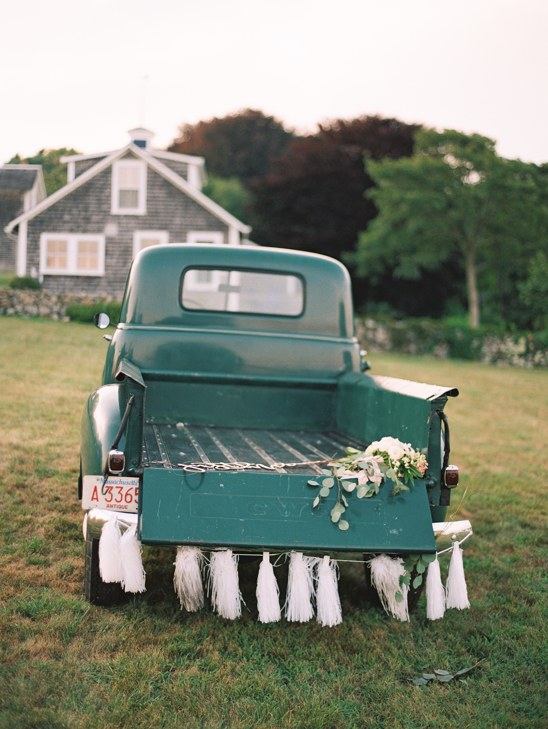 green getaway truck