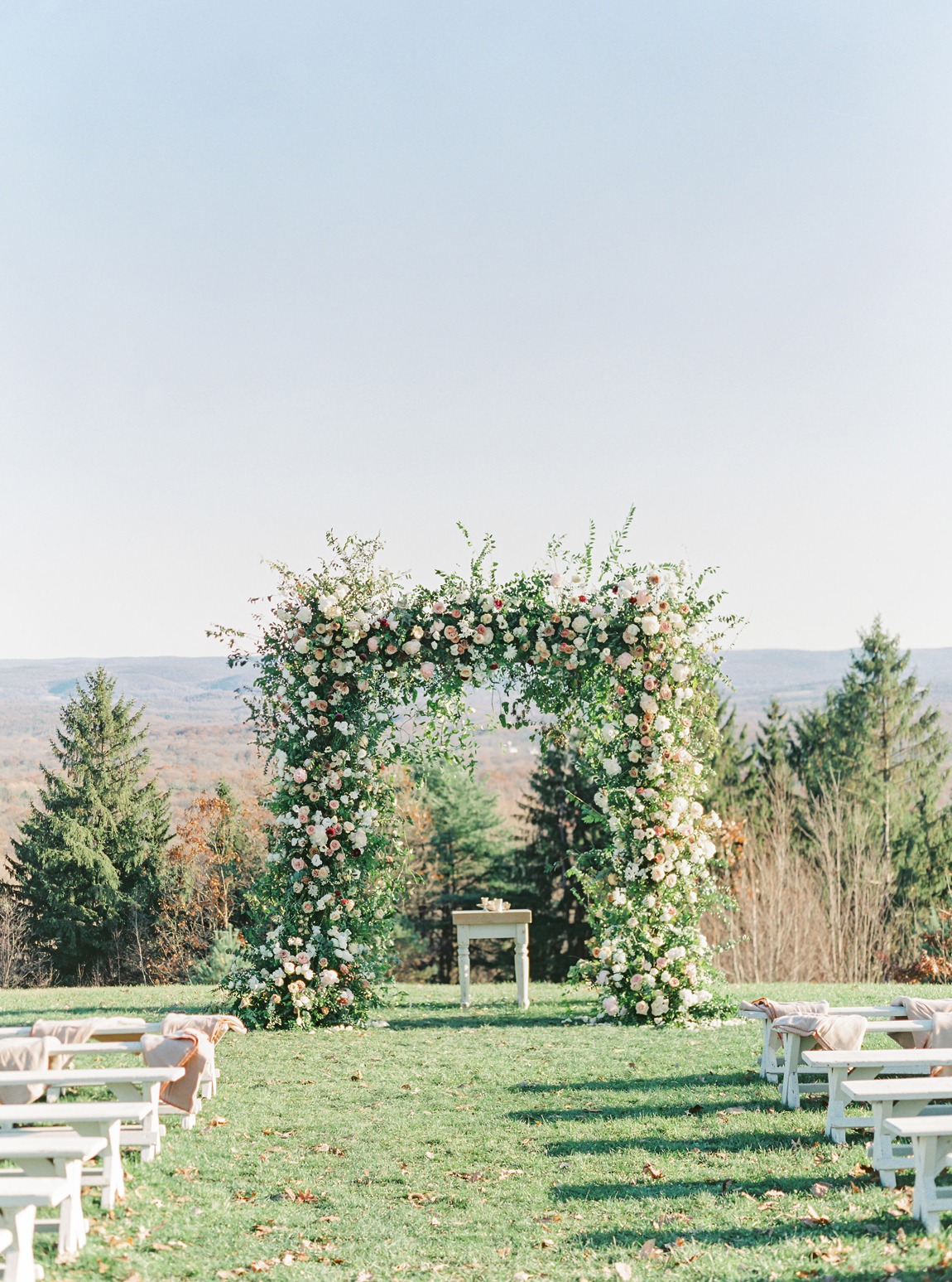 nine-foot-high floral ceremonial chuppah