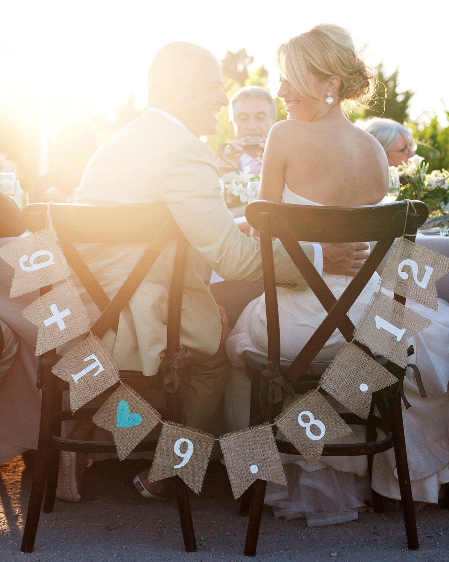 Bride-and-Groom Chair Swag