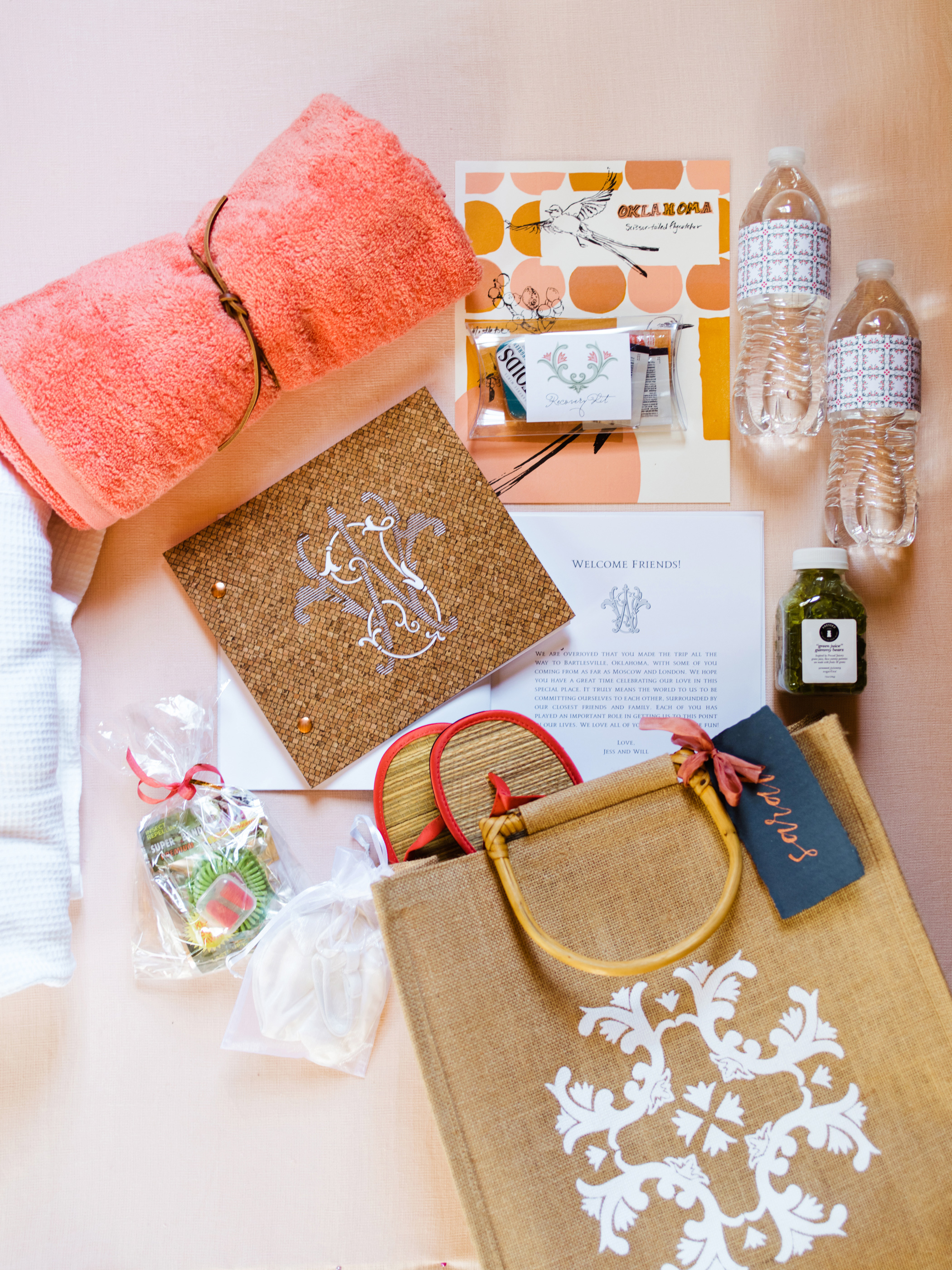 jessika william wedding welcome bag