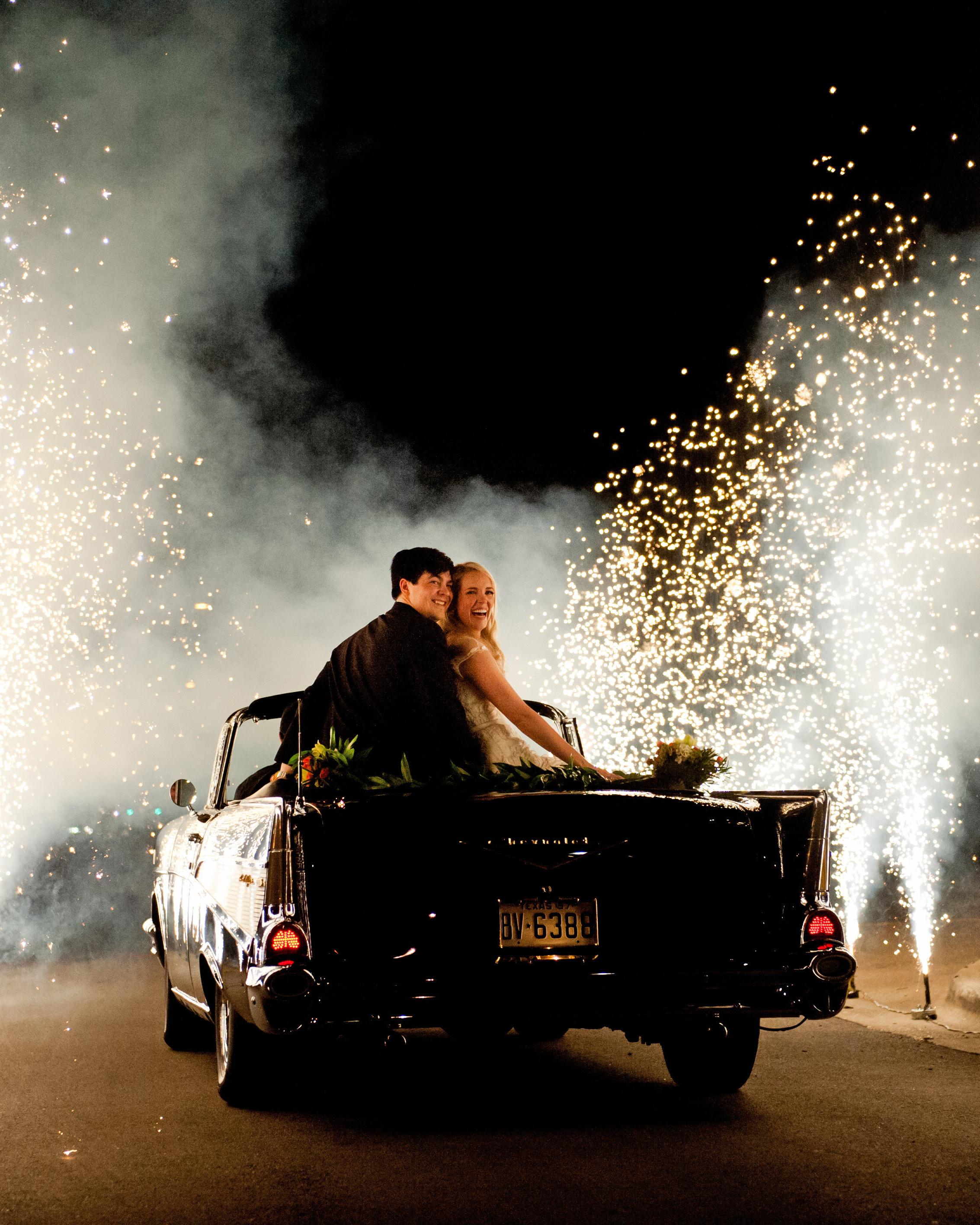 wedding fireworks sparkler gorgeous getaway