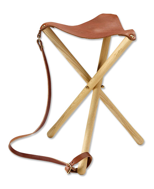 dad gift guide leather camping stool