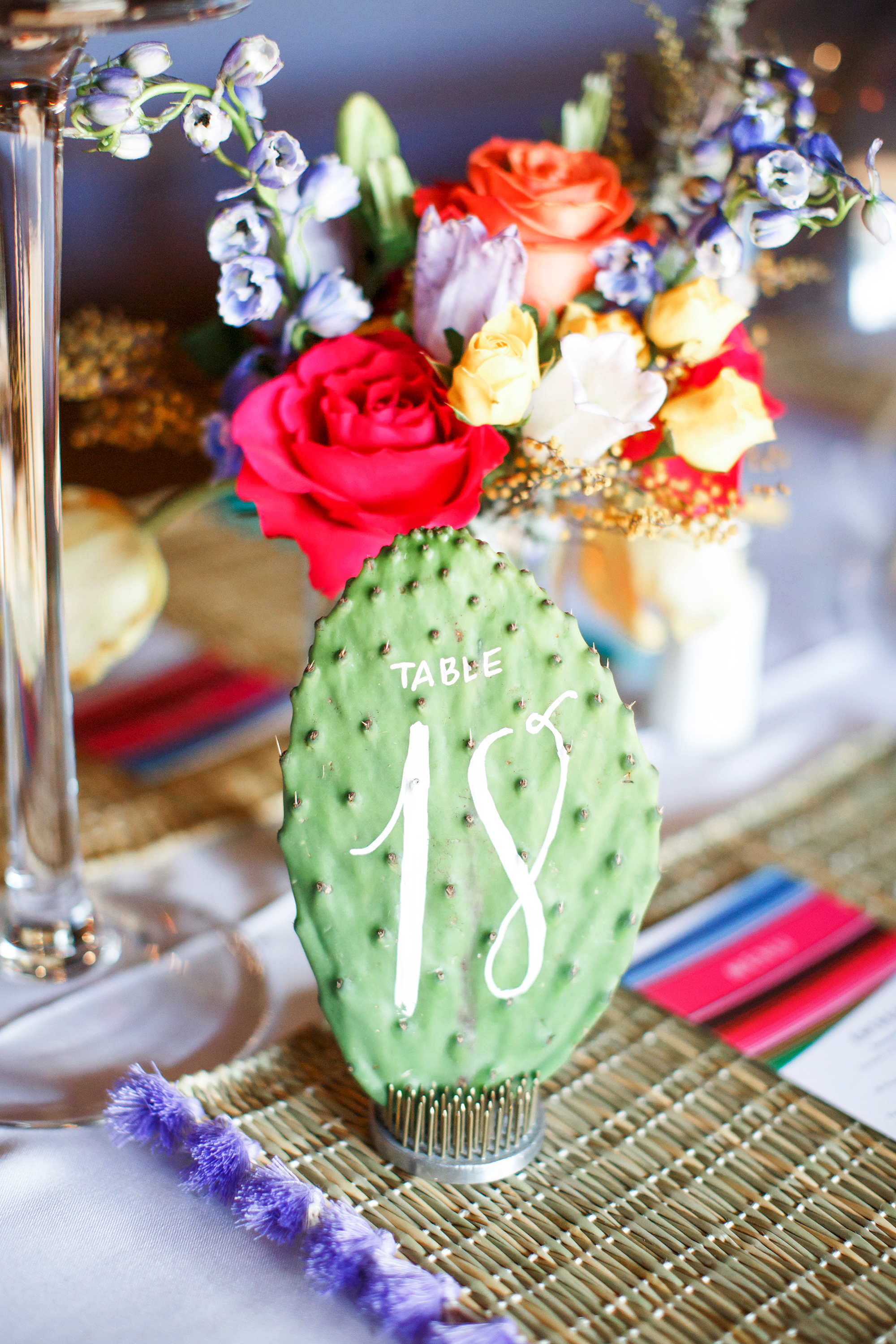 green wedding ideas monique hessler cactus table number