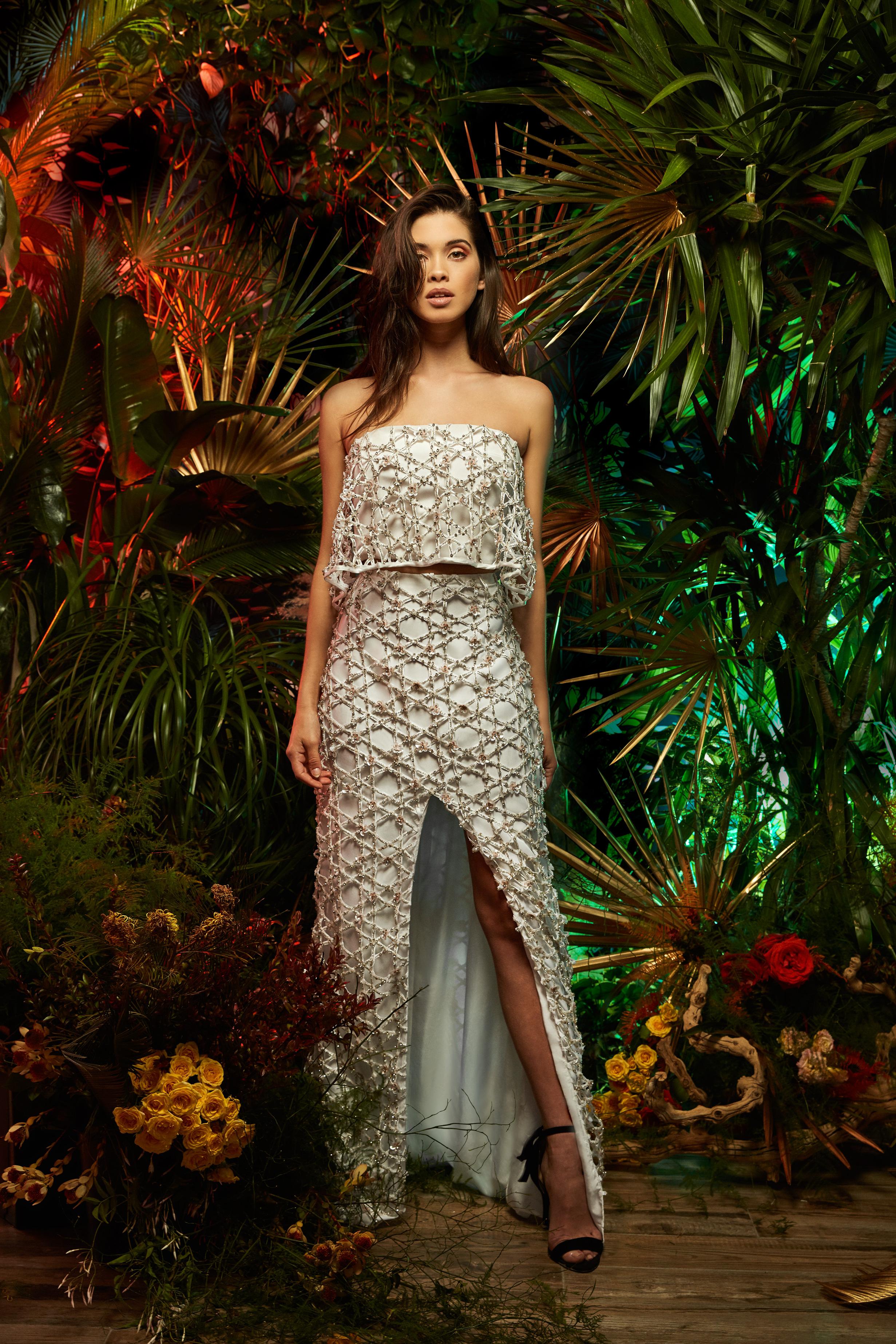 lakum wedding dress spring 2019 strapless separates