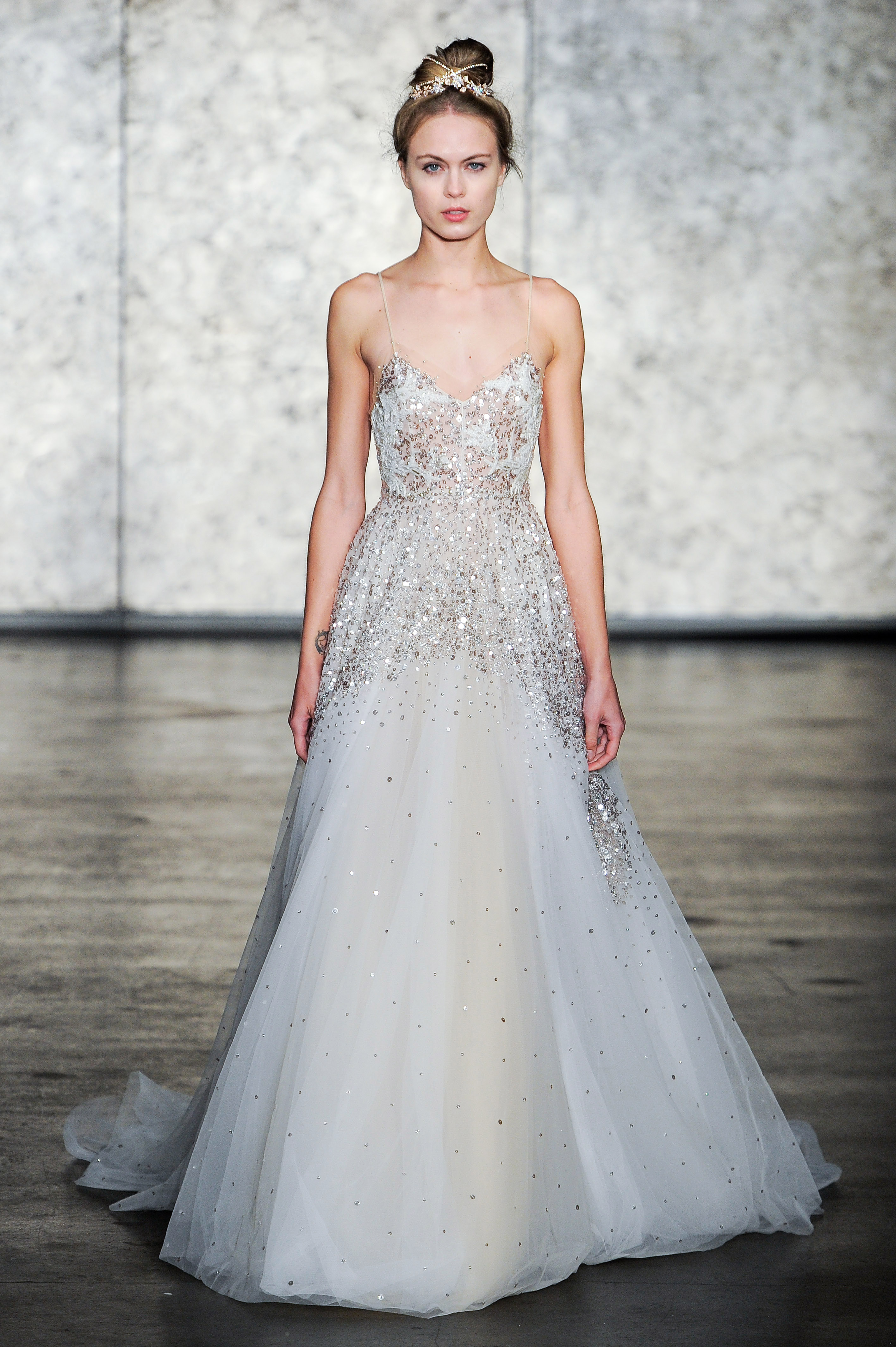 inbal dror fall 2018 v-neck spaghetti strap wedding dress