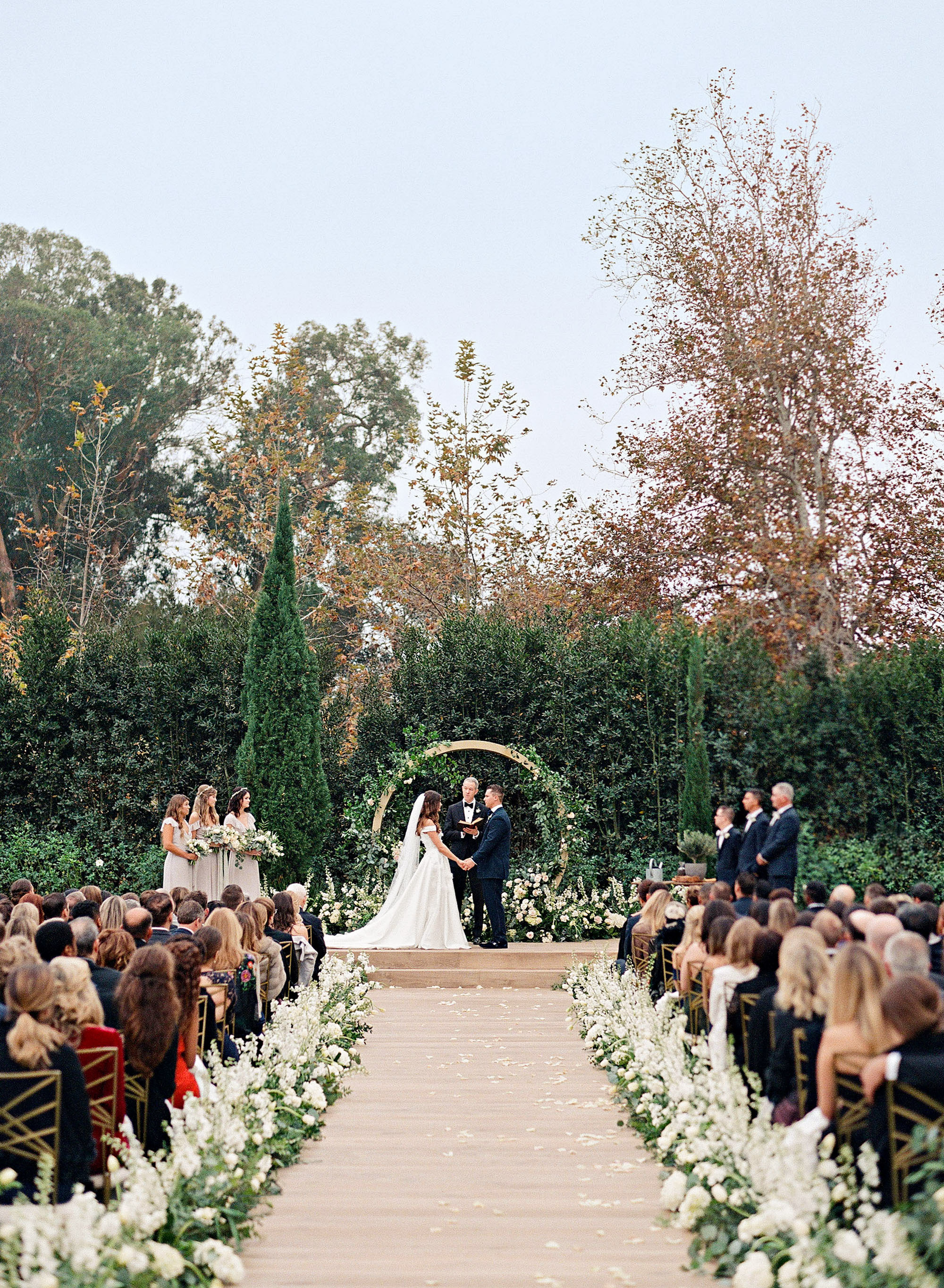 One Couple's Beautiful Winter Wedding in Santa Barbara, California