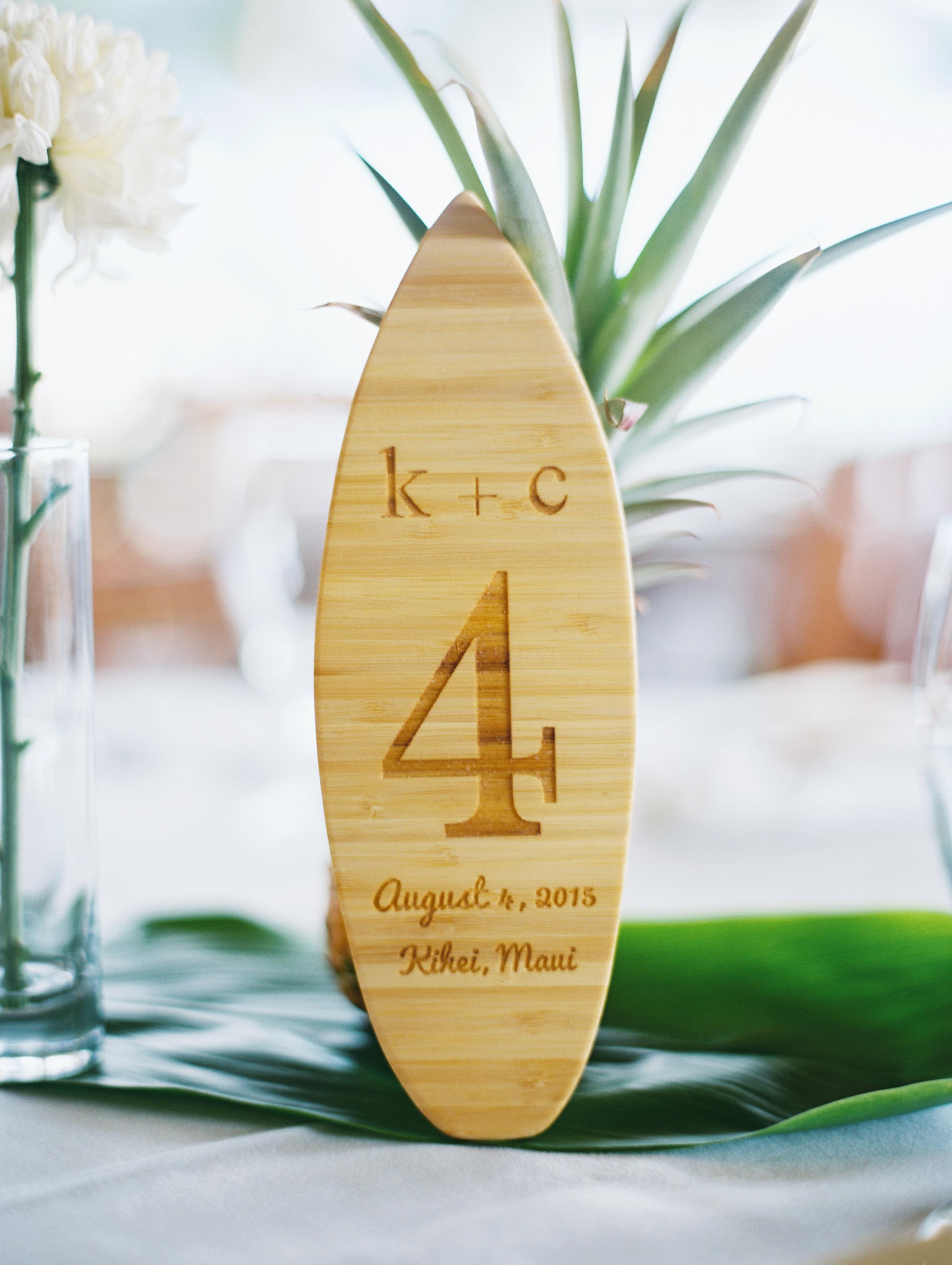 mini surfboard table numbers