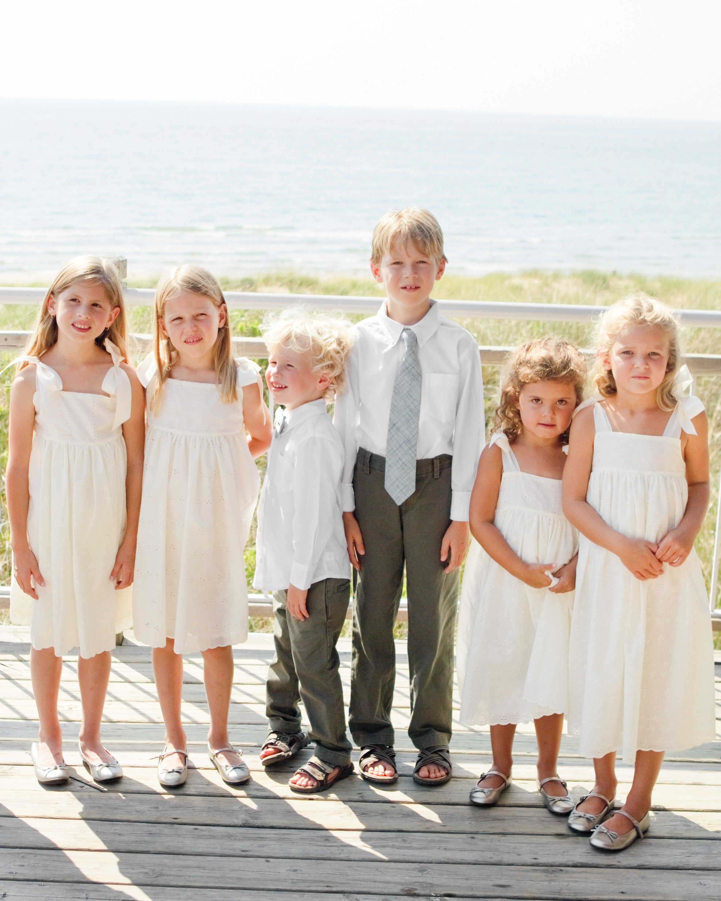 The Flower Girls and Ring Bearers