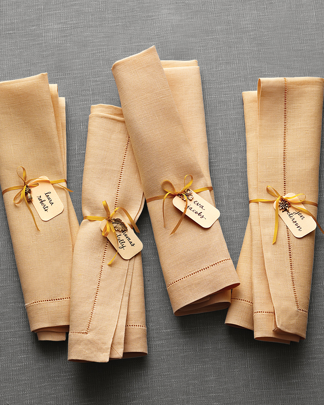 Napkin Ring Place Card Tags