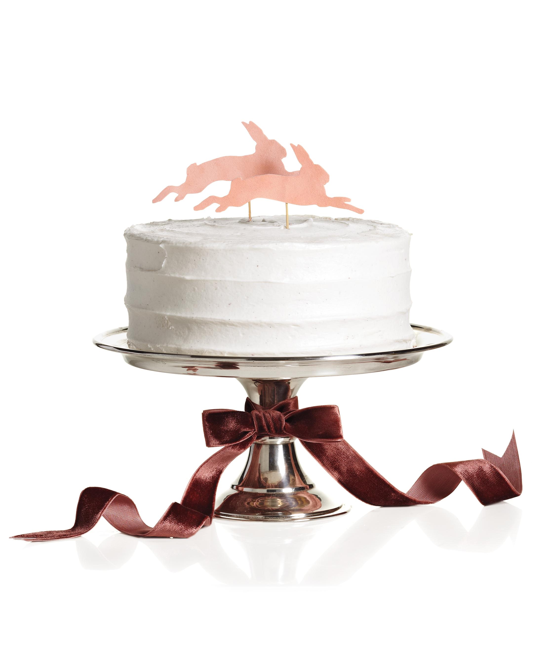 Velvet Bunny Cake Topper