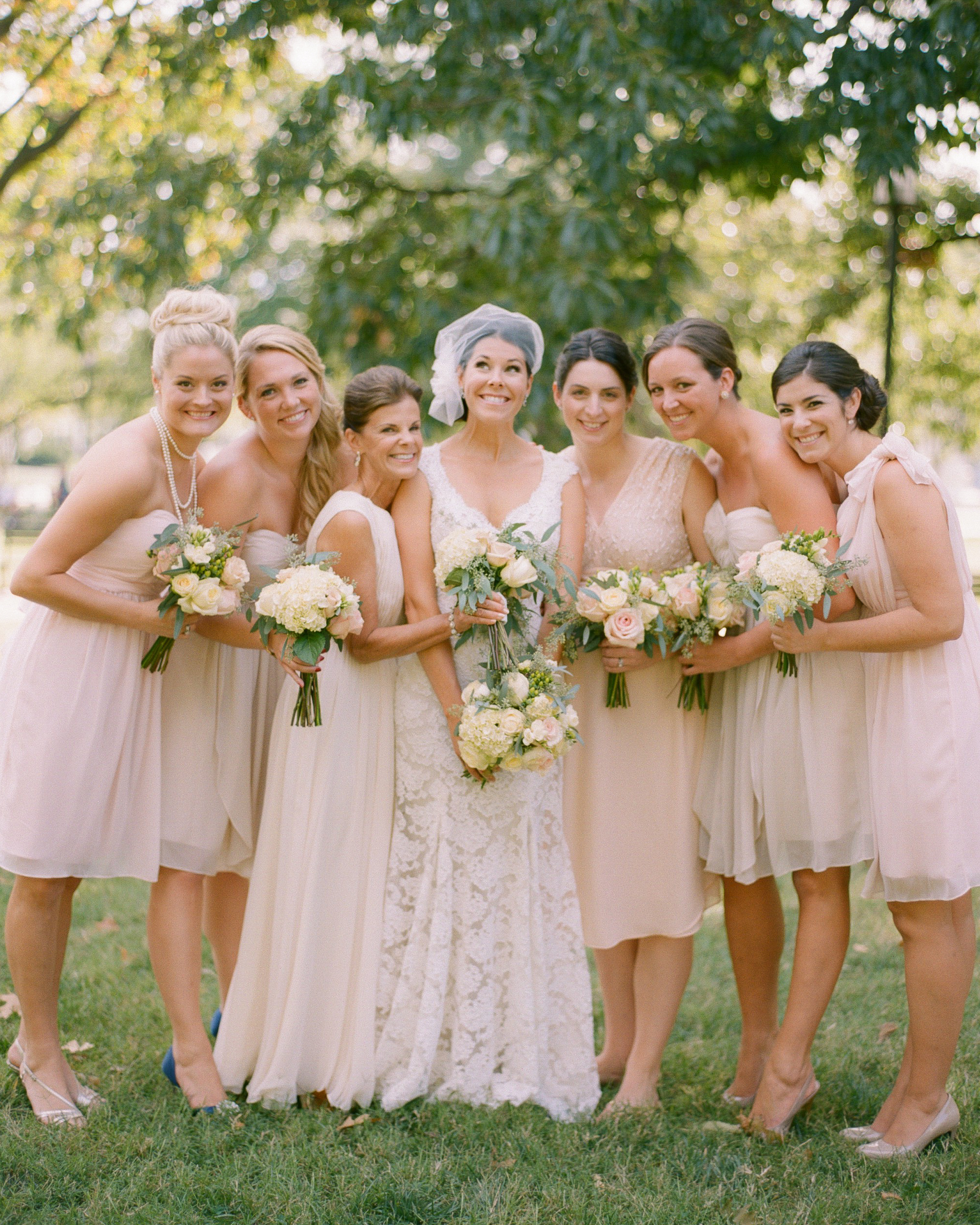 Blushing Bridesmaids