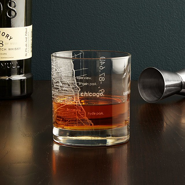 groomsmen gift guide uncommon goods city map glassware