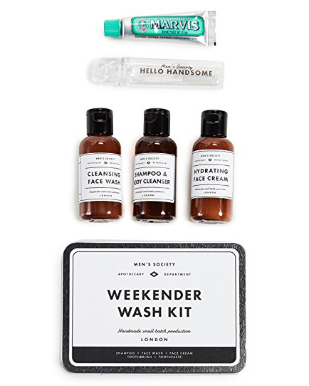 groomsmen gift guide mens society weekend wash kit