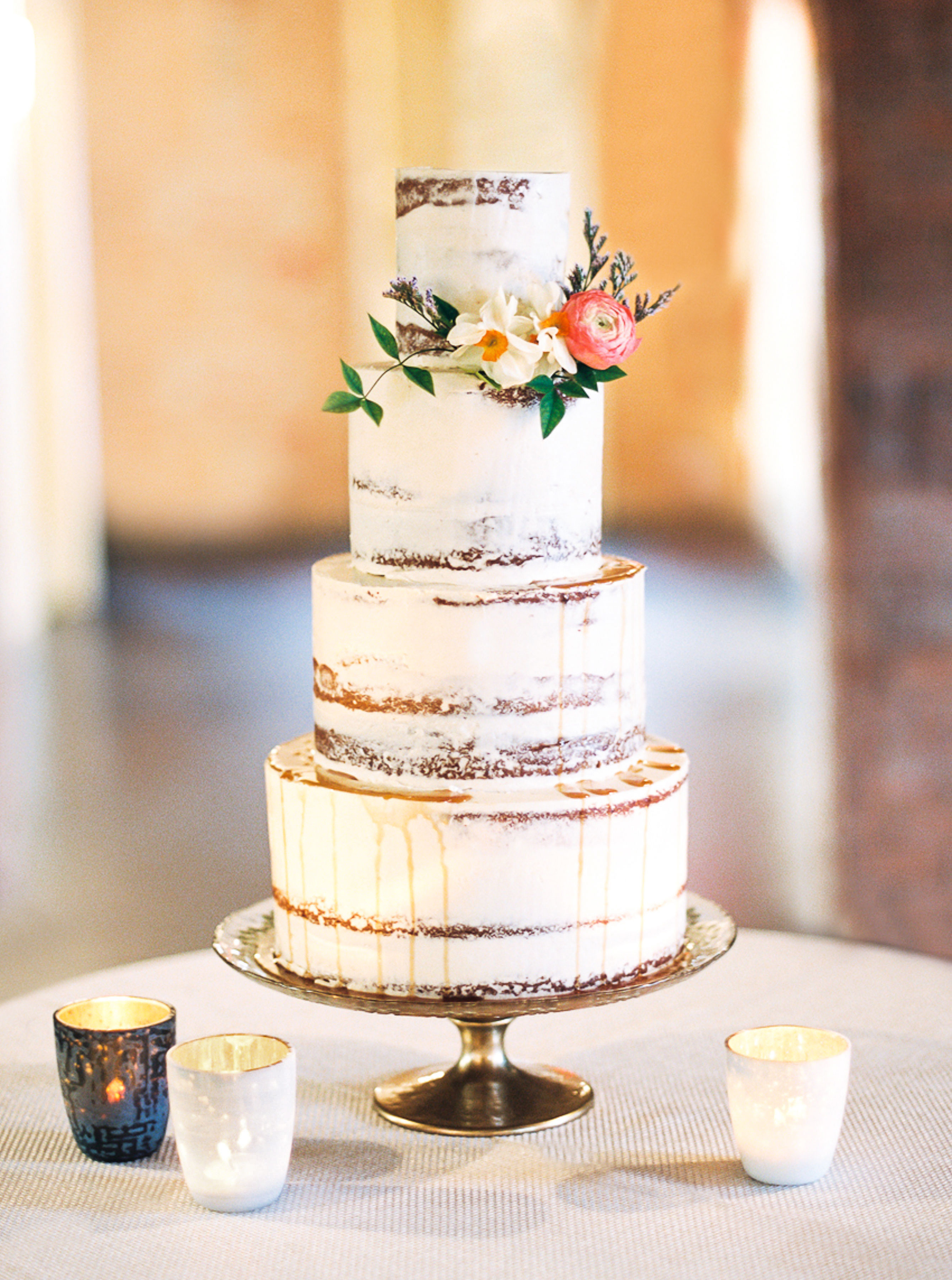 Four-Tiered Naked Wedding Cake