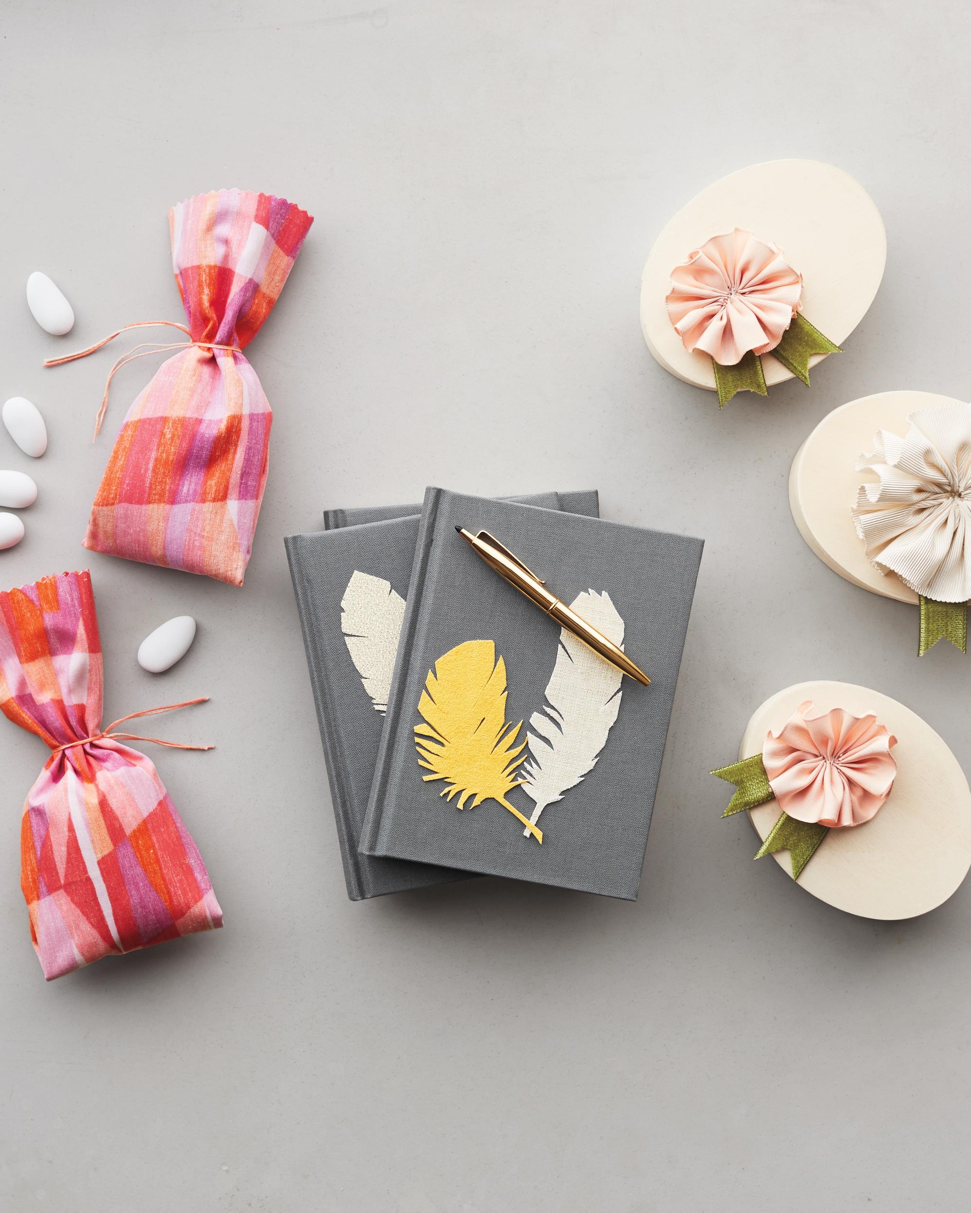 Fabric Rosette Favor Boxes