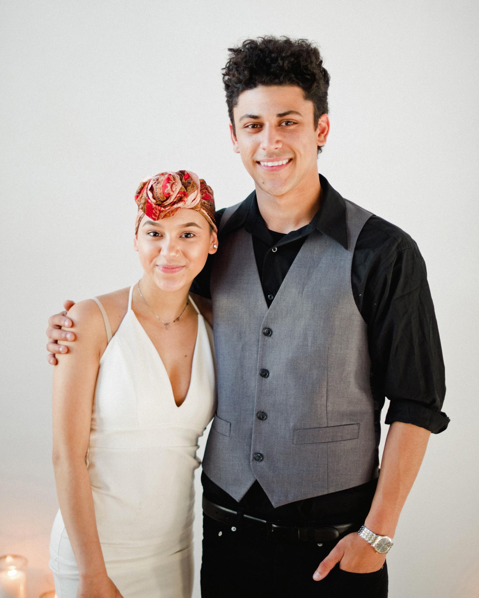 summer wedding guests head wrap