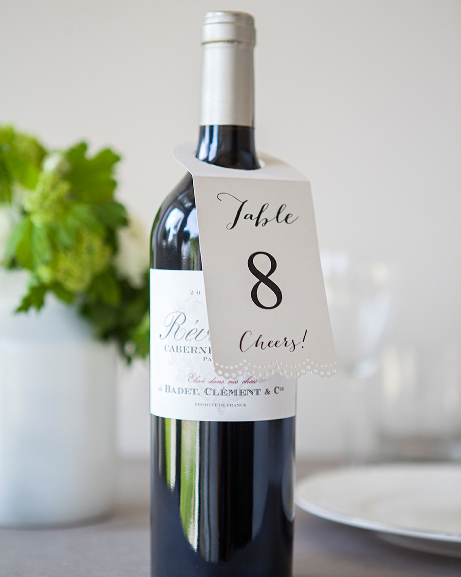 Wine, Two, Three: Vino Table Number Tags