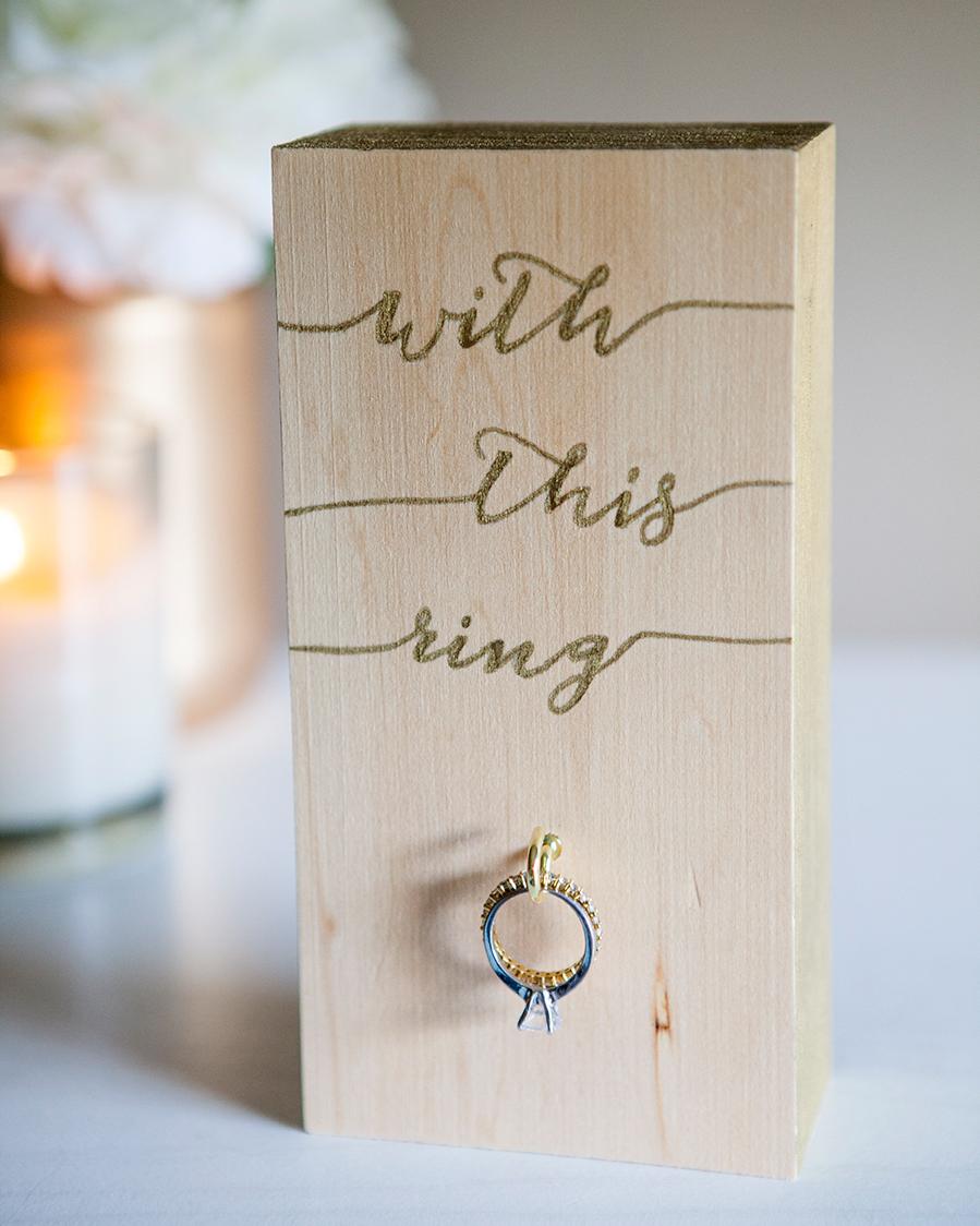 Wooden Wedding Ring Holder