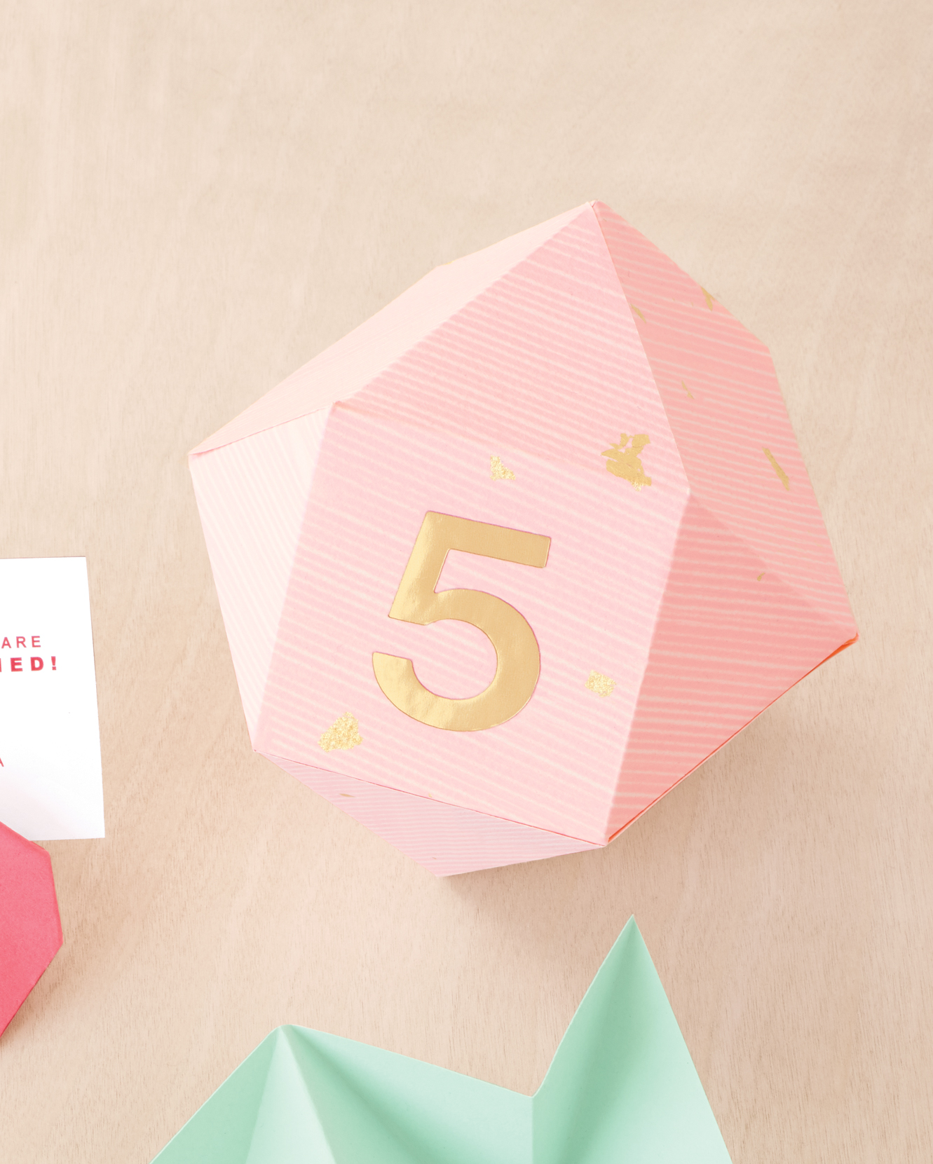 Origami Table Numbers