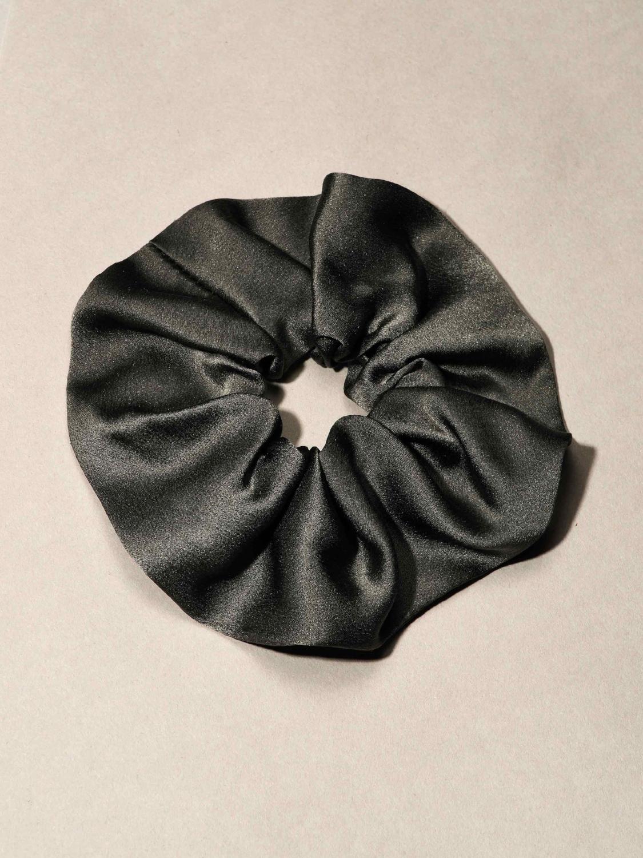 bridesmaid gift black silk scrunchie