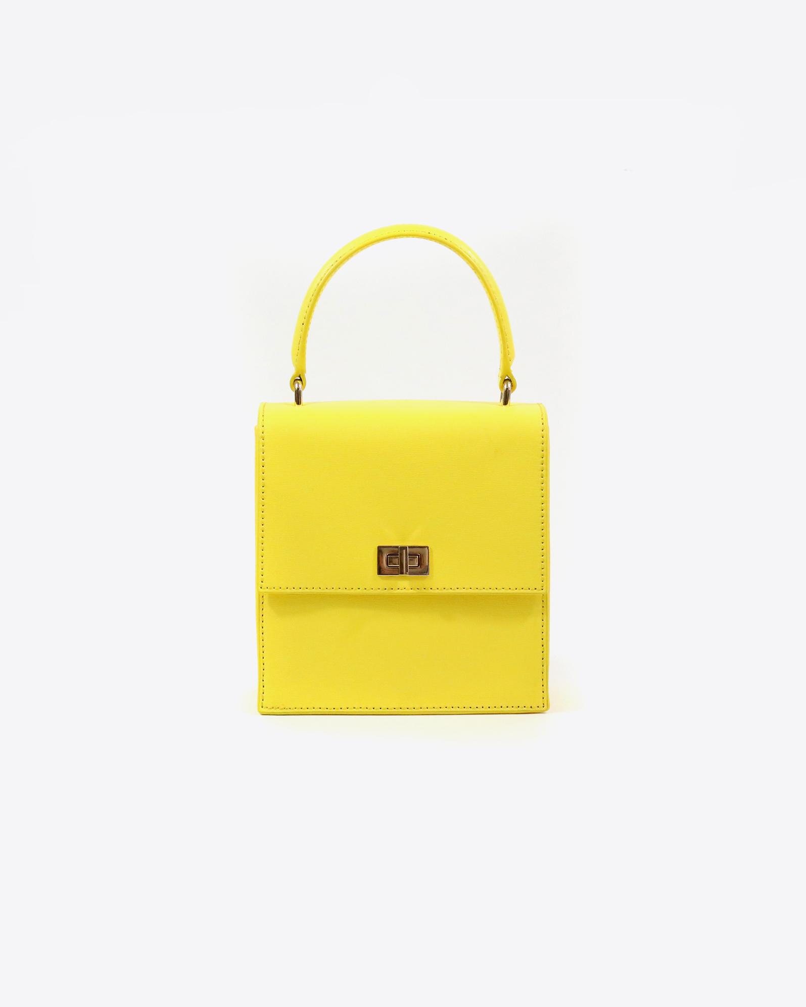 bridesmaid gift yellow mini lady bag