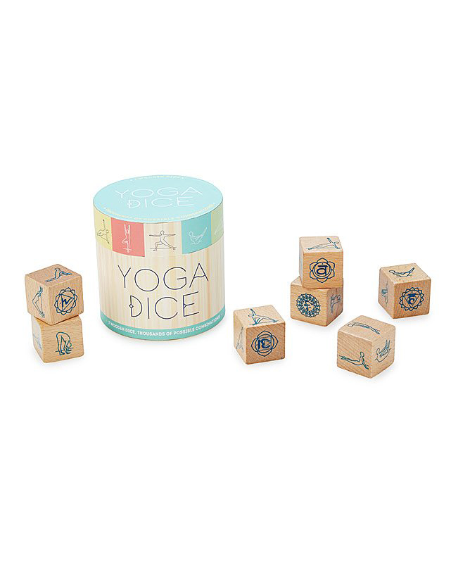 bridesmaid gift yoga wooden dice blocks
