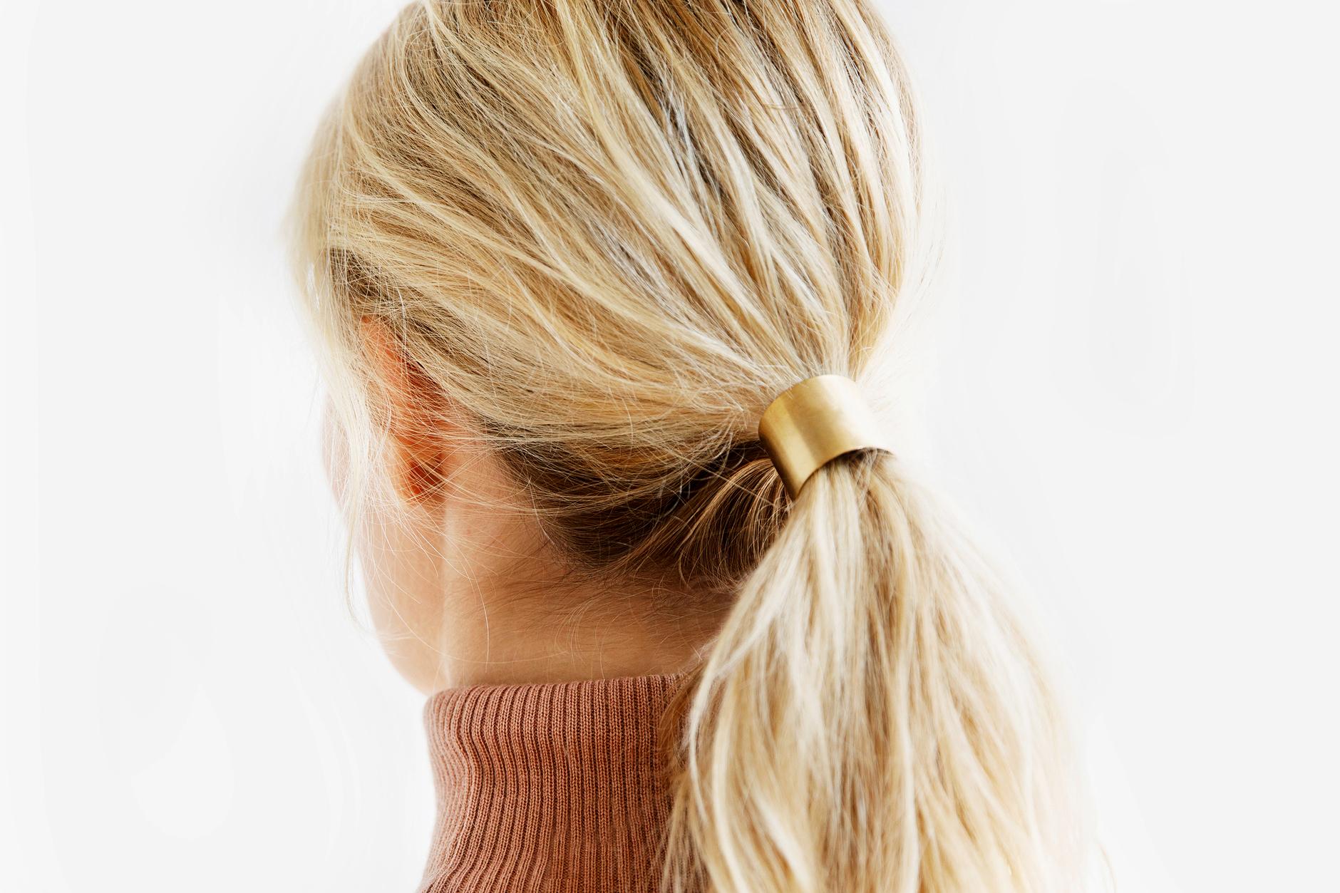 bridesmaid gift metal cusp hair tie