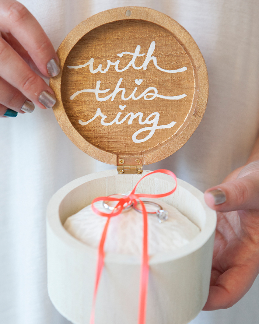 Wooden Ring Bearer Box