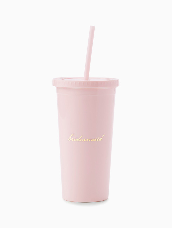 be my bridesmaid tumbler with gold script