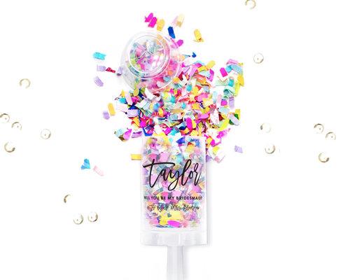 be my bridesmaid confetti popper