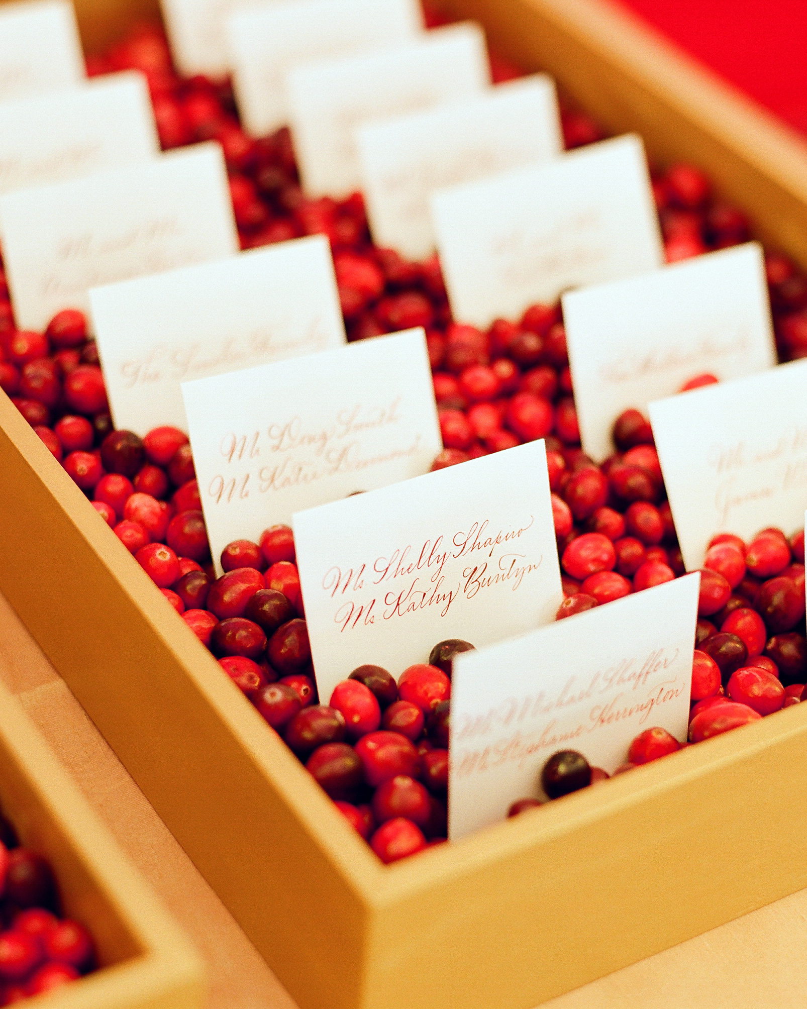 Cranberry Escort Card Display