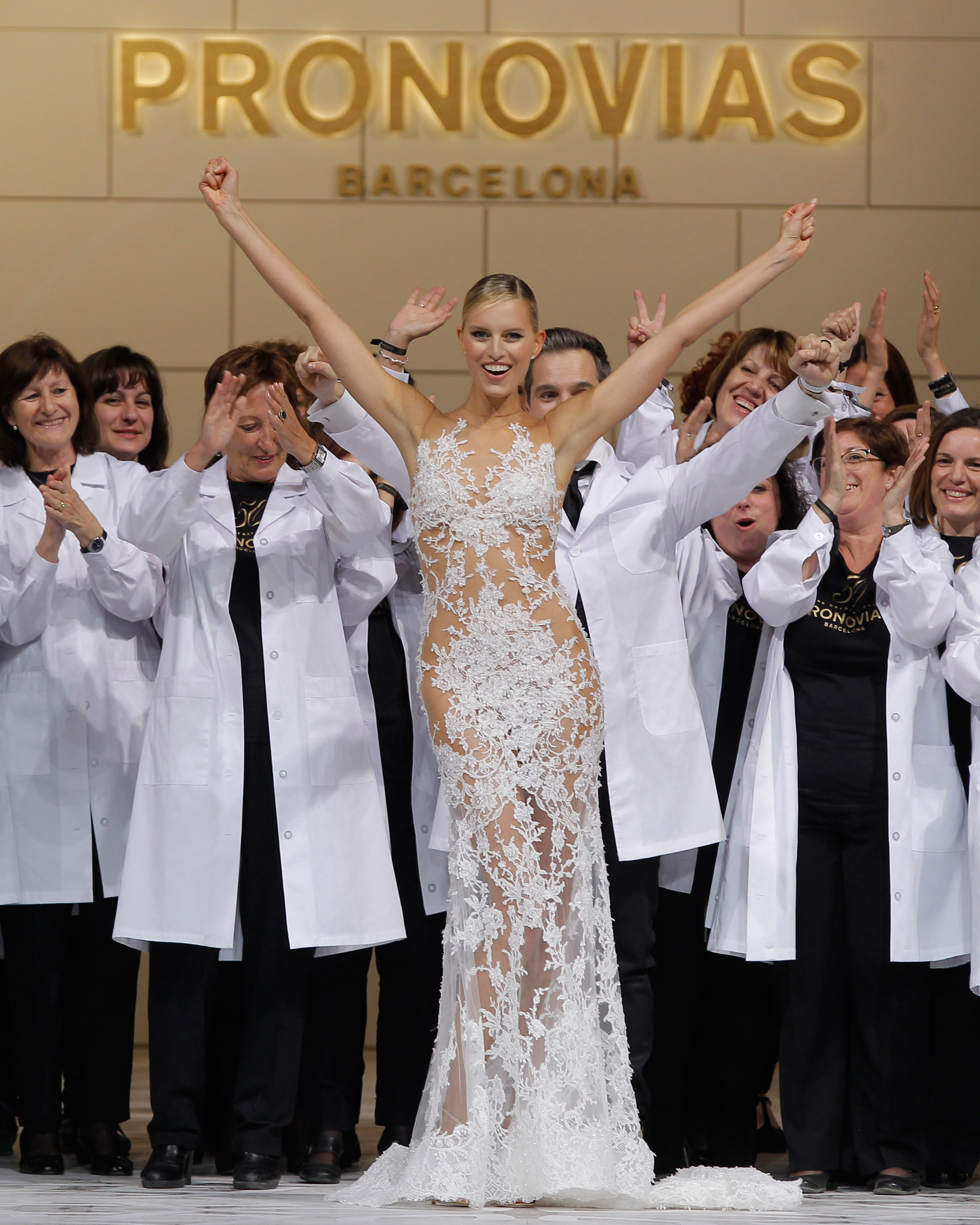 Karolina Kurkova Walked at Pronovias
