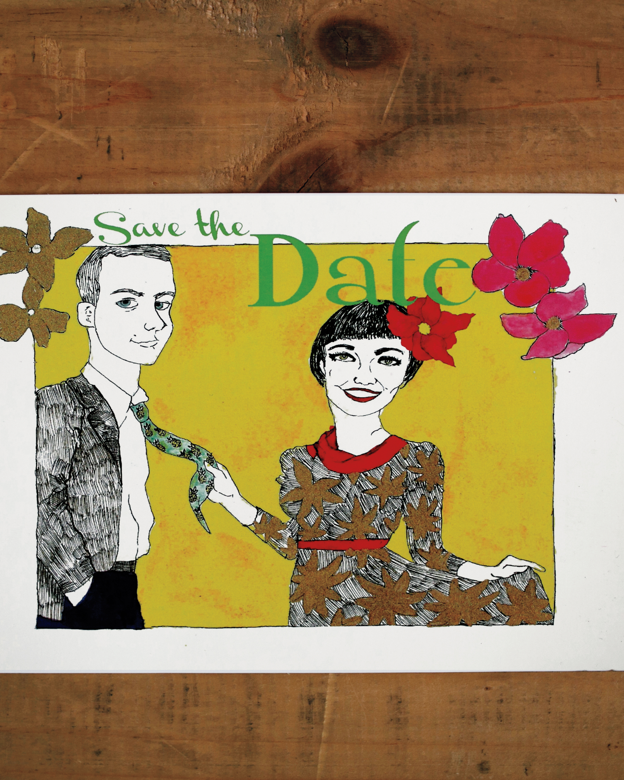 Caricature Save-the-Dates