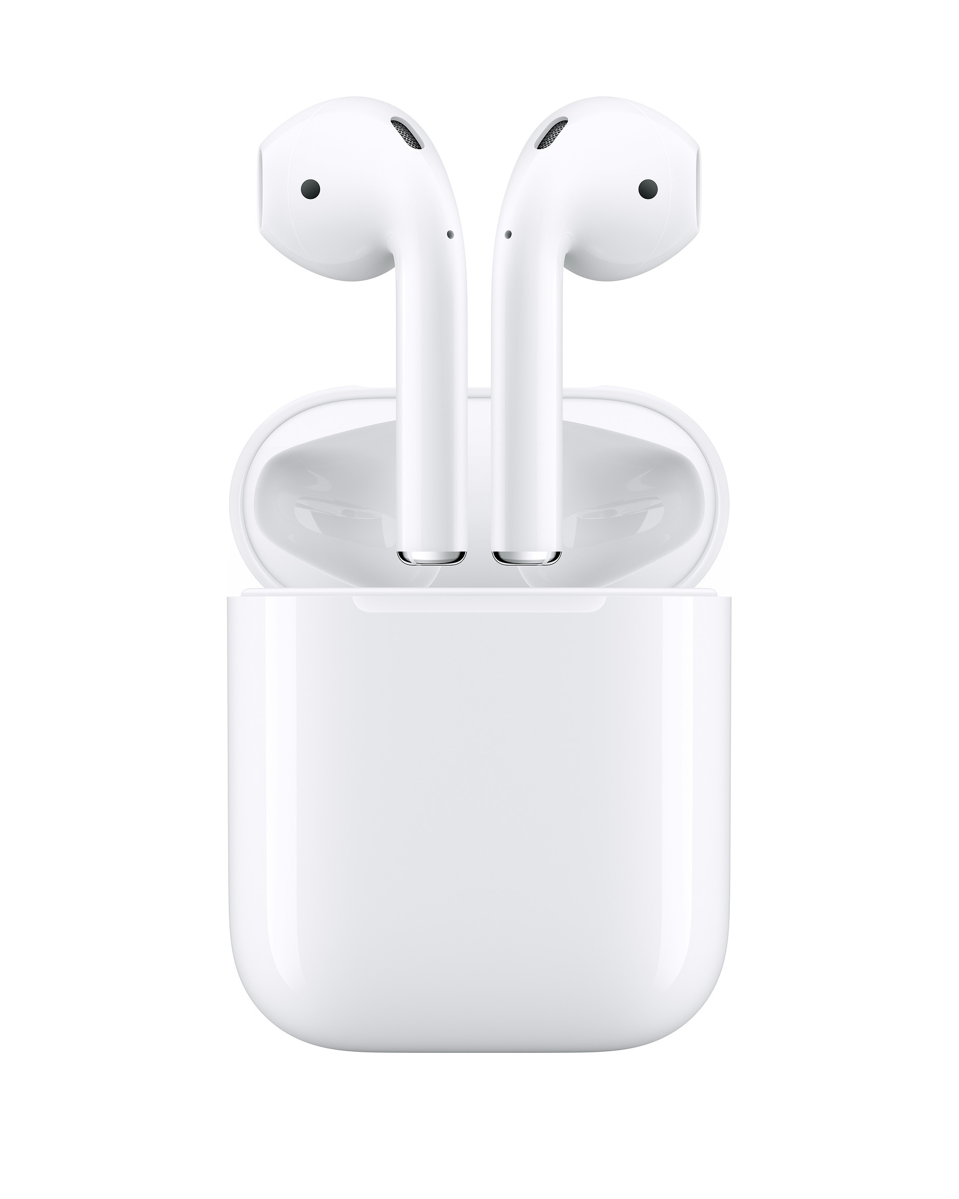 white Apple Airpods