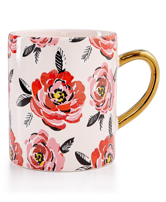 Martha Stewart Collection Floral Mug