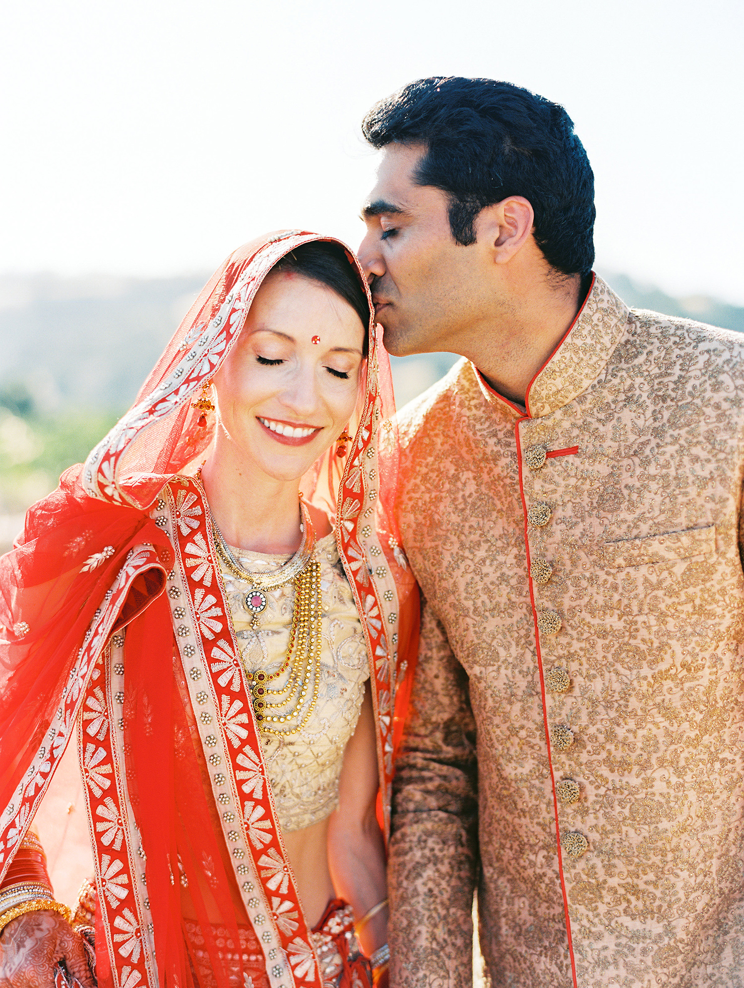 caitlin amit indian wedding bride and groom