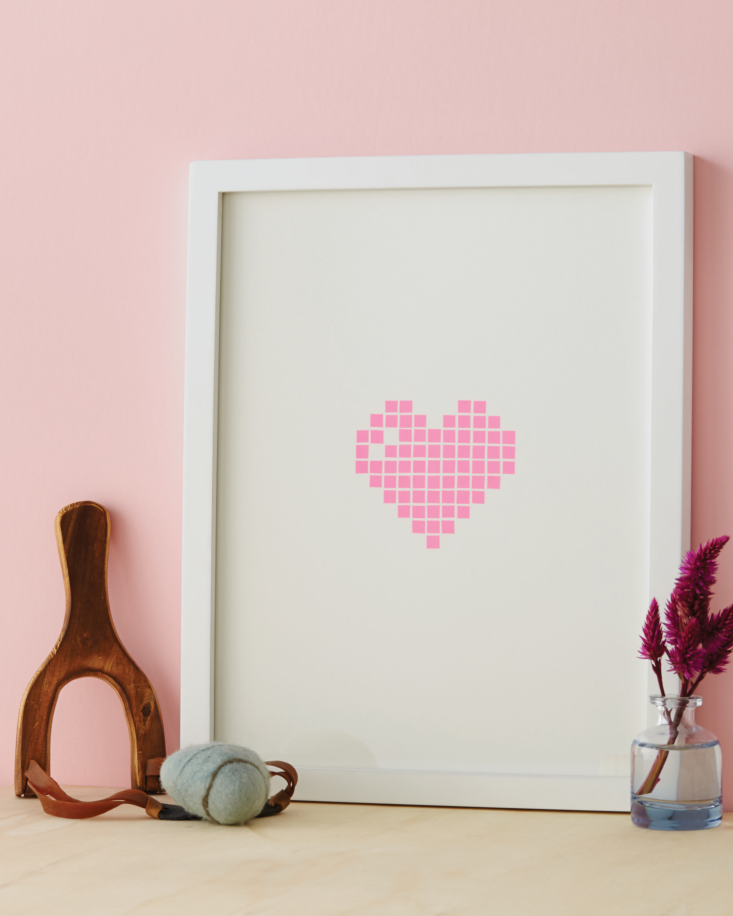 Framed Pixel Heart
