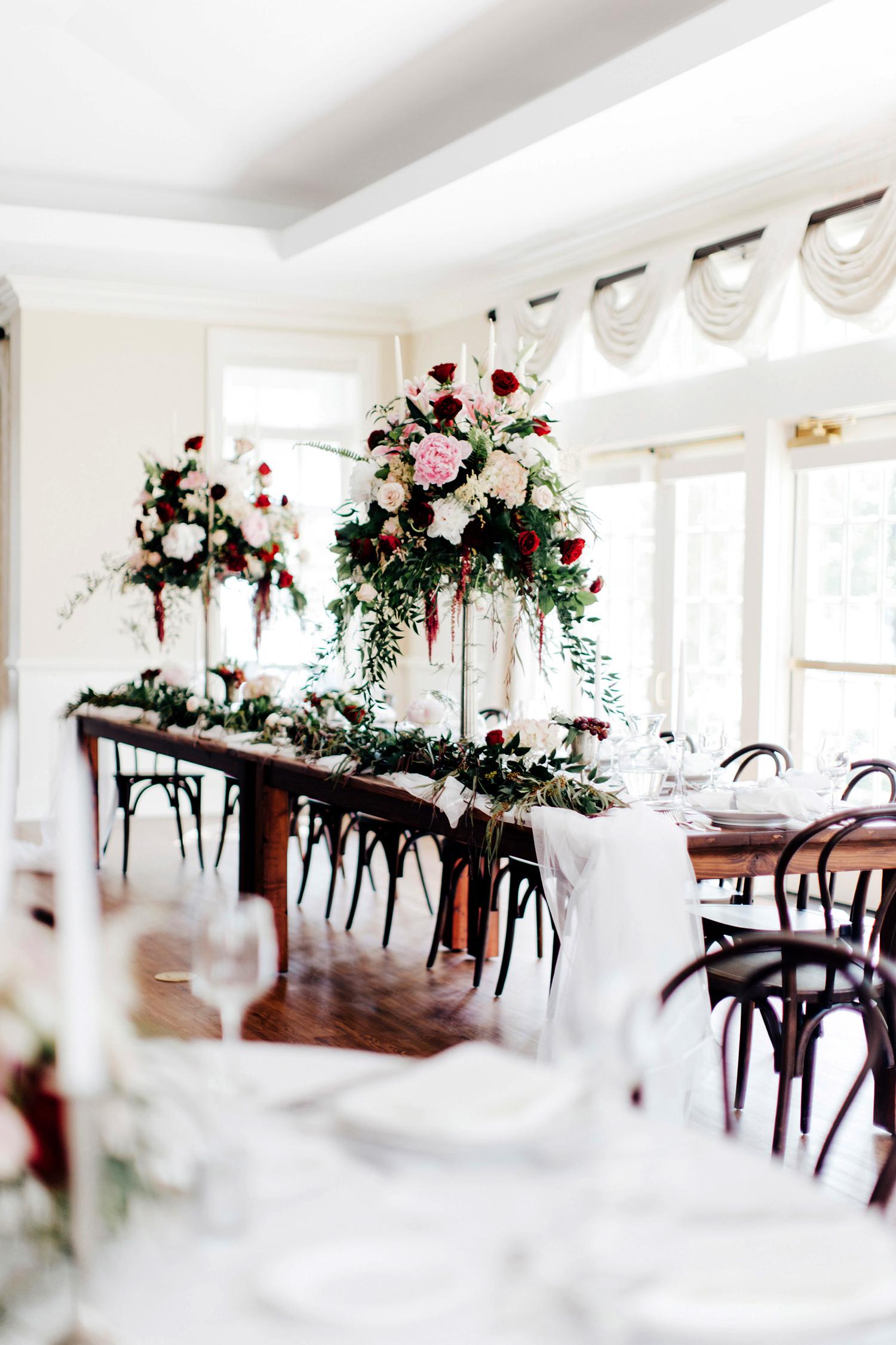 Downton Abbey-inspired venue decor