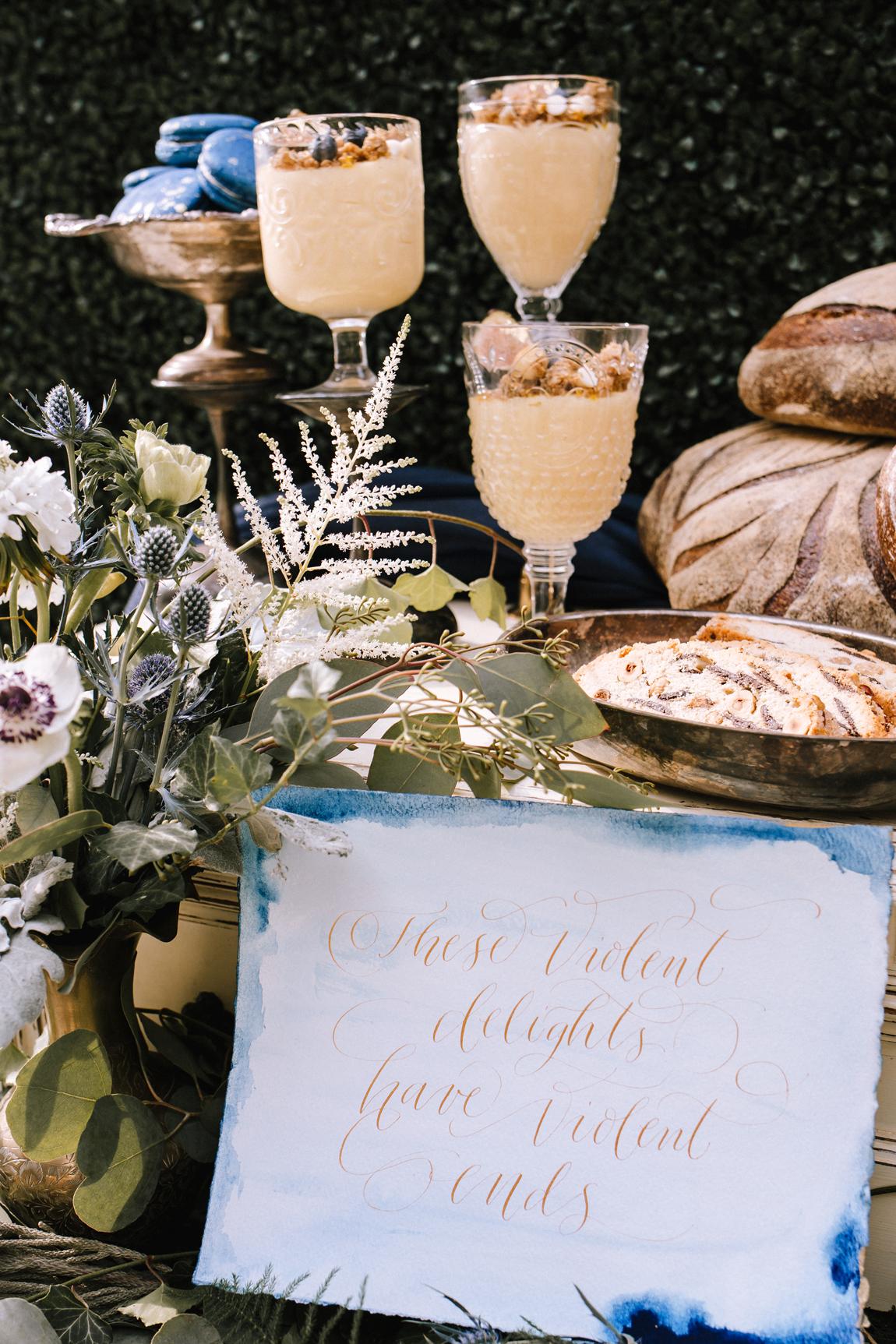 Romeo and Juliet inspired wedding decor