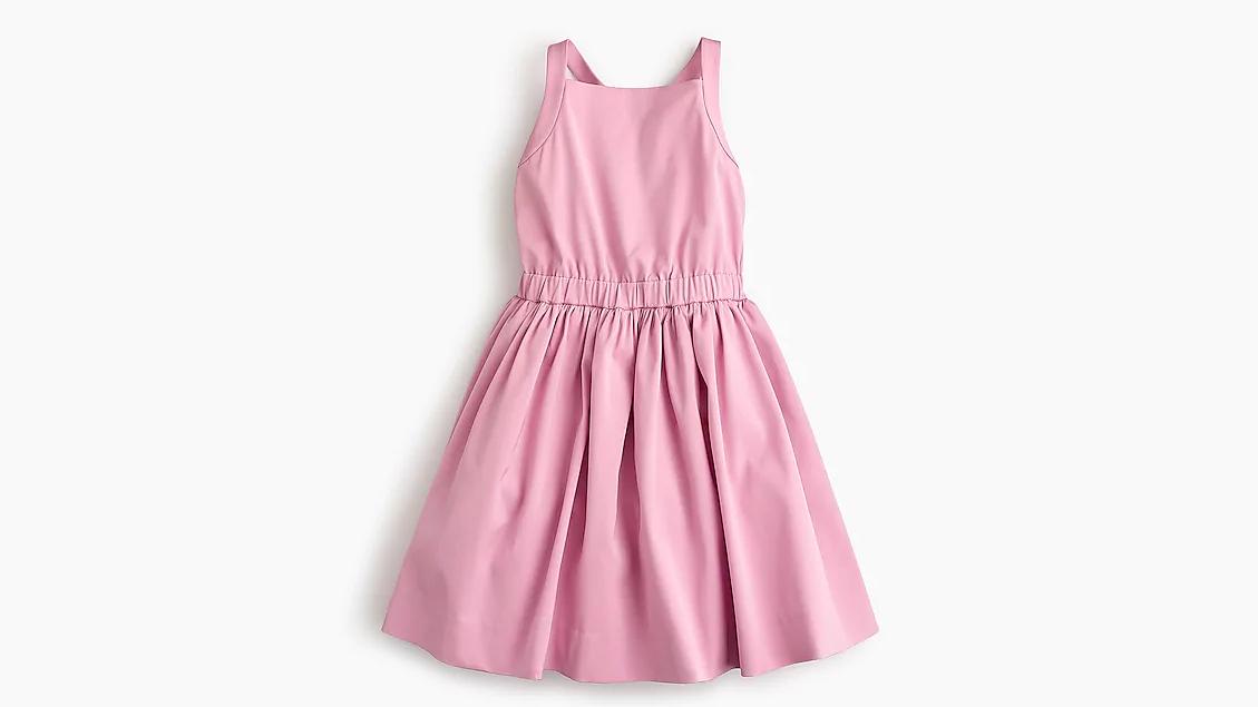 summer flower girl dress pink simple