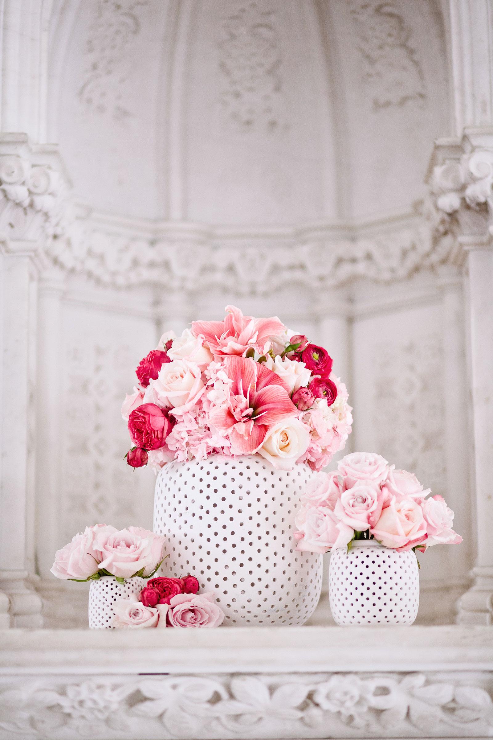 flowers polka dot pot