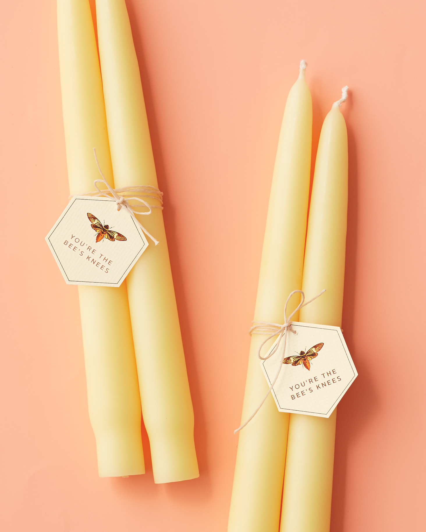 You're the Bee's Knees Candle Favor Tags