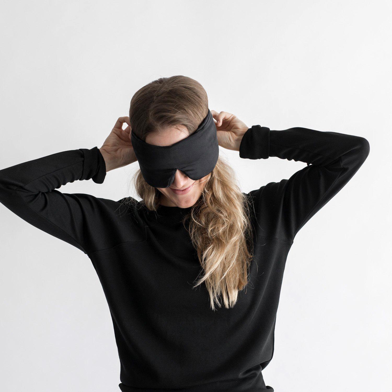 gifts for mom black silk sleep mask
