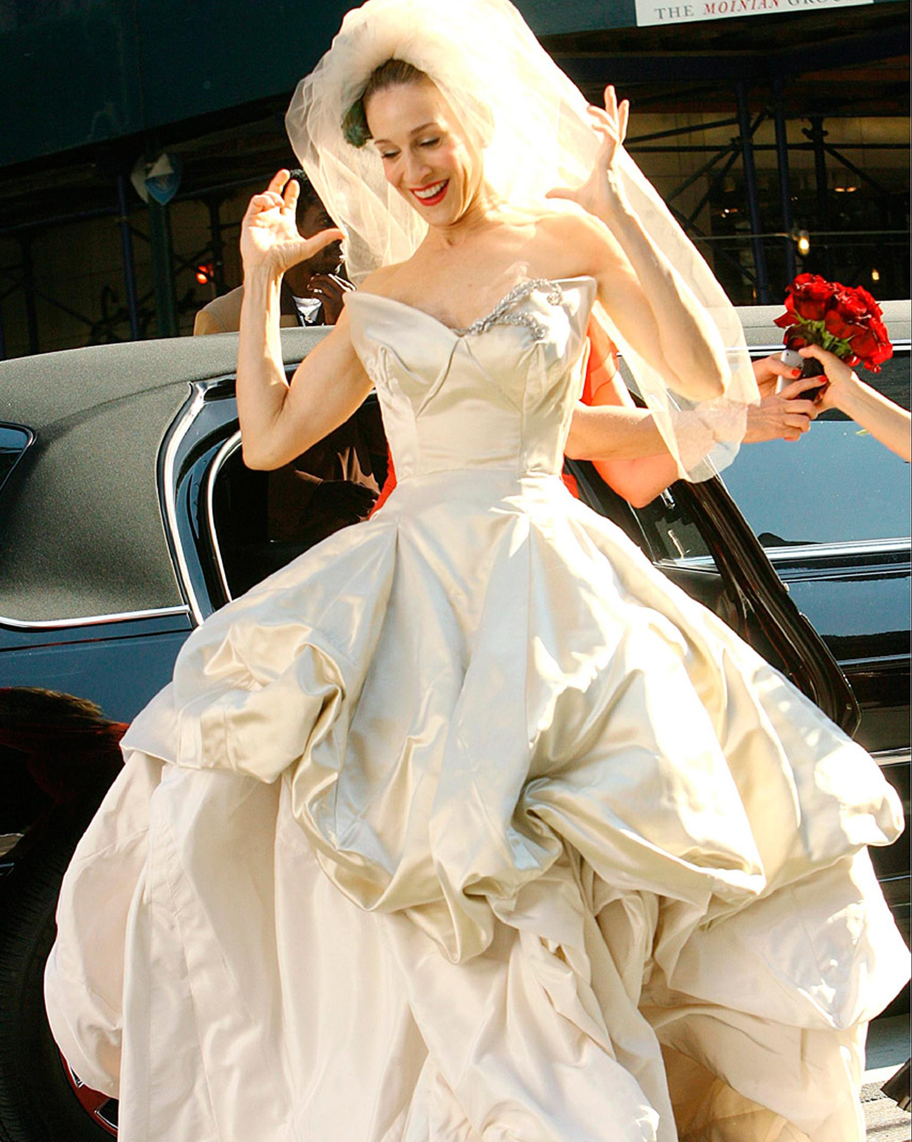 "See All The Wedding Dresses That Didn't Make It Into the ""Sex and the City"" Movie"