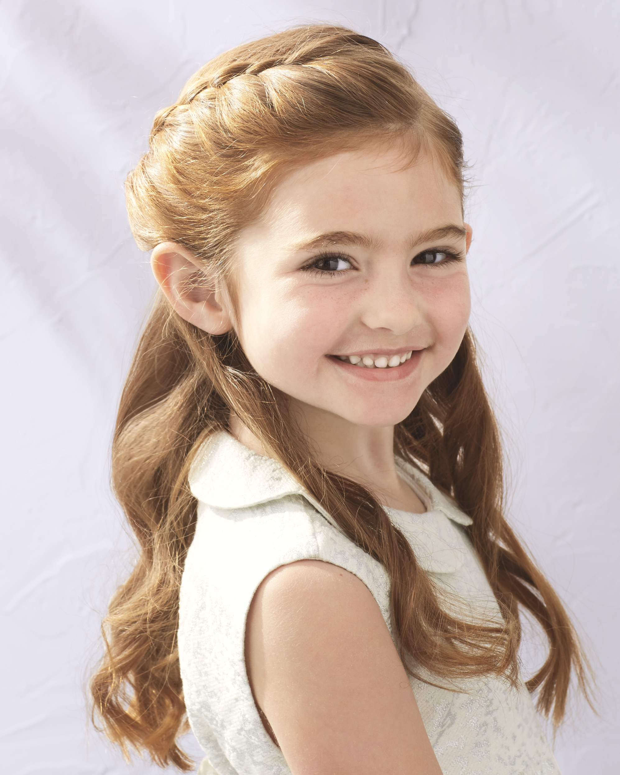 Flower Girl's Braided Half-Up-Half-Down Hairstyle