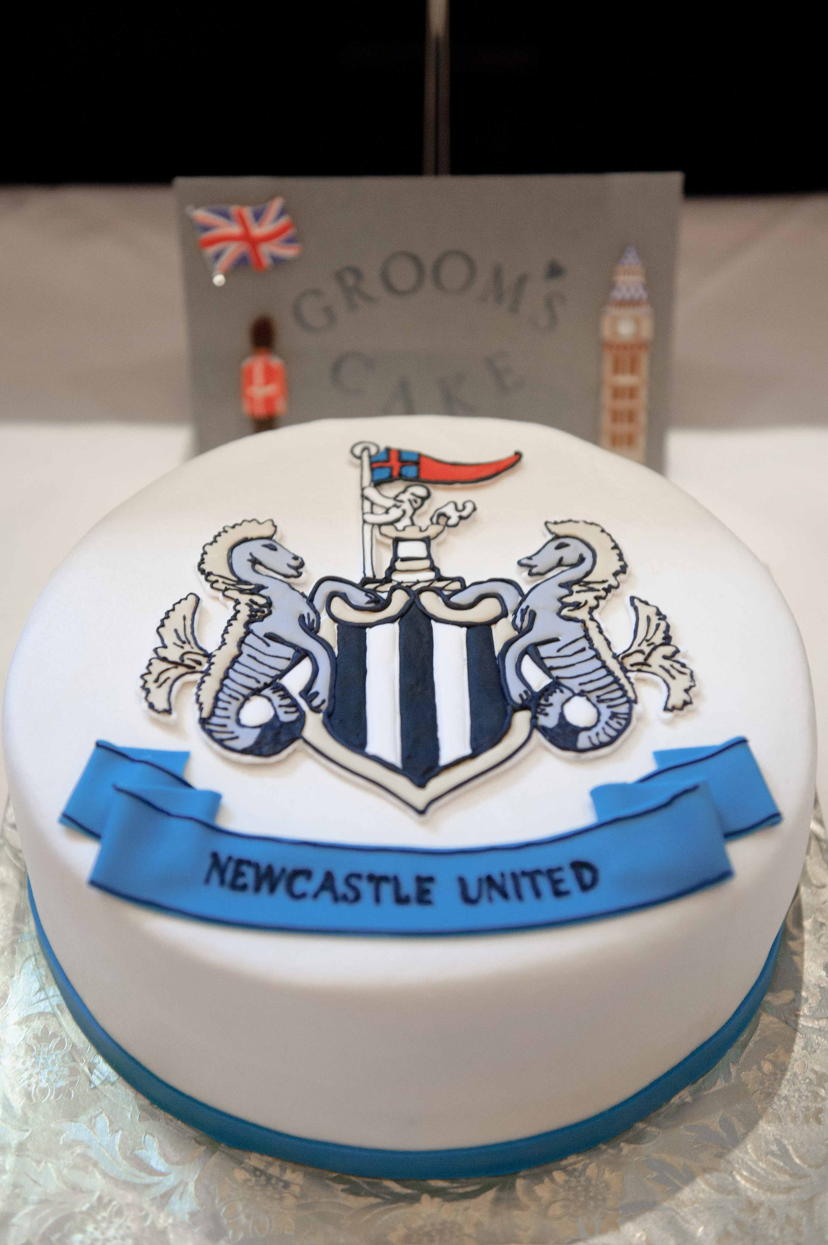 newcastle grooms cake