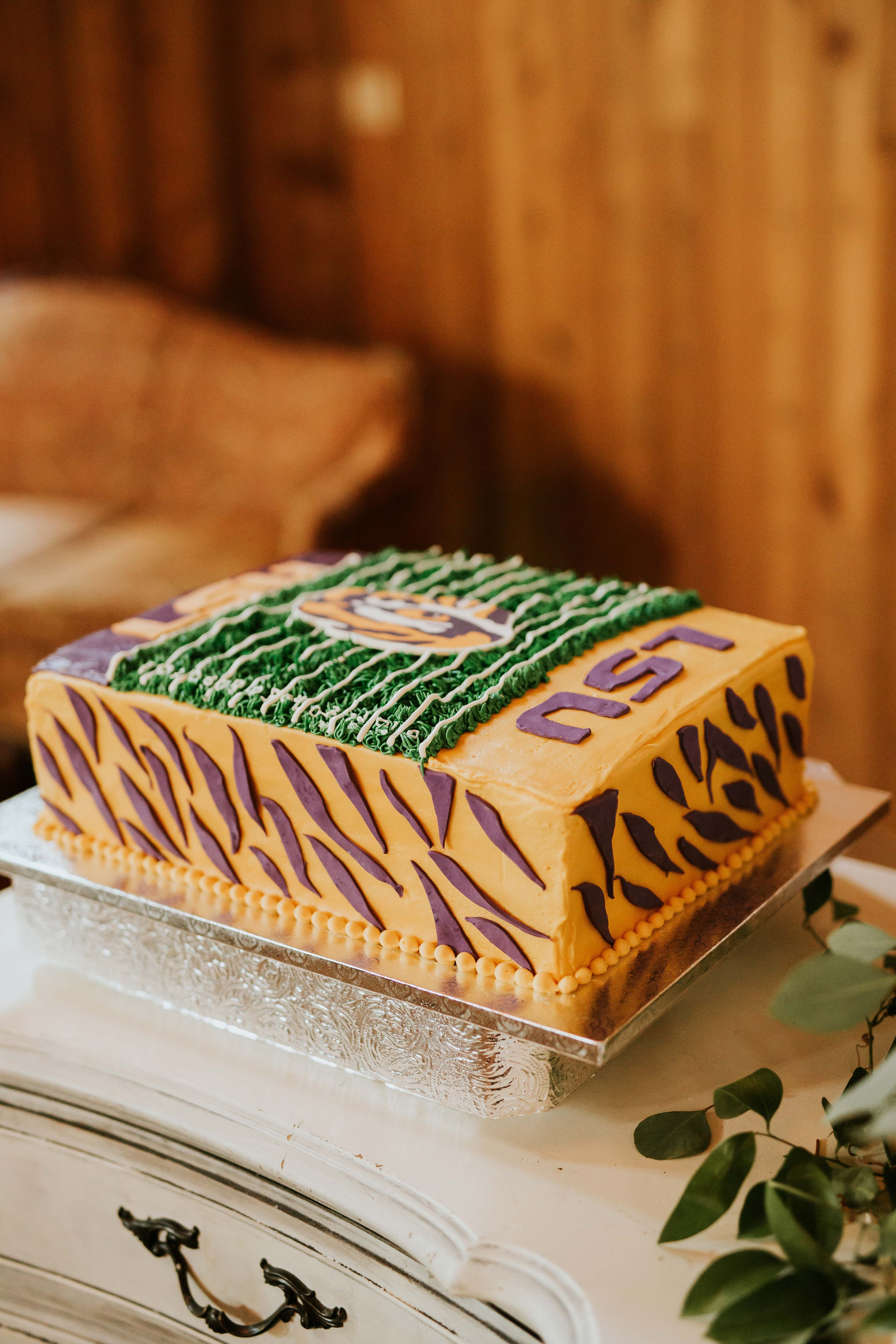 lsu football field cake
