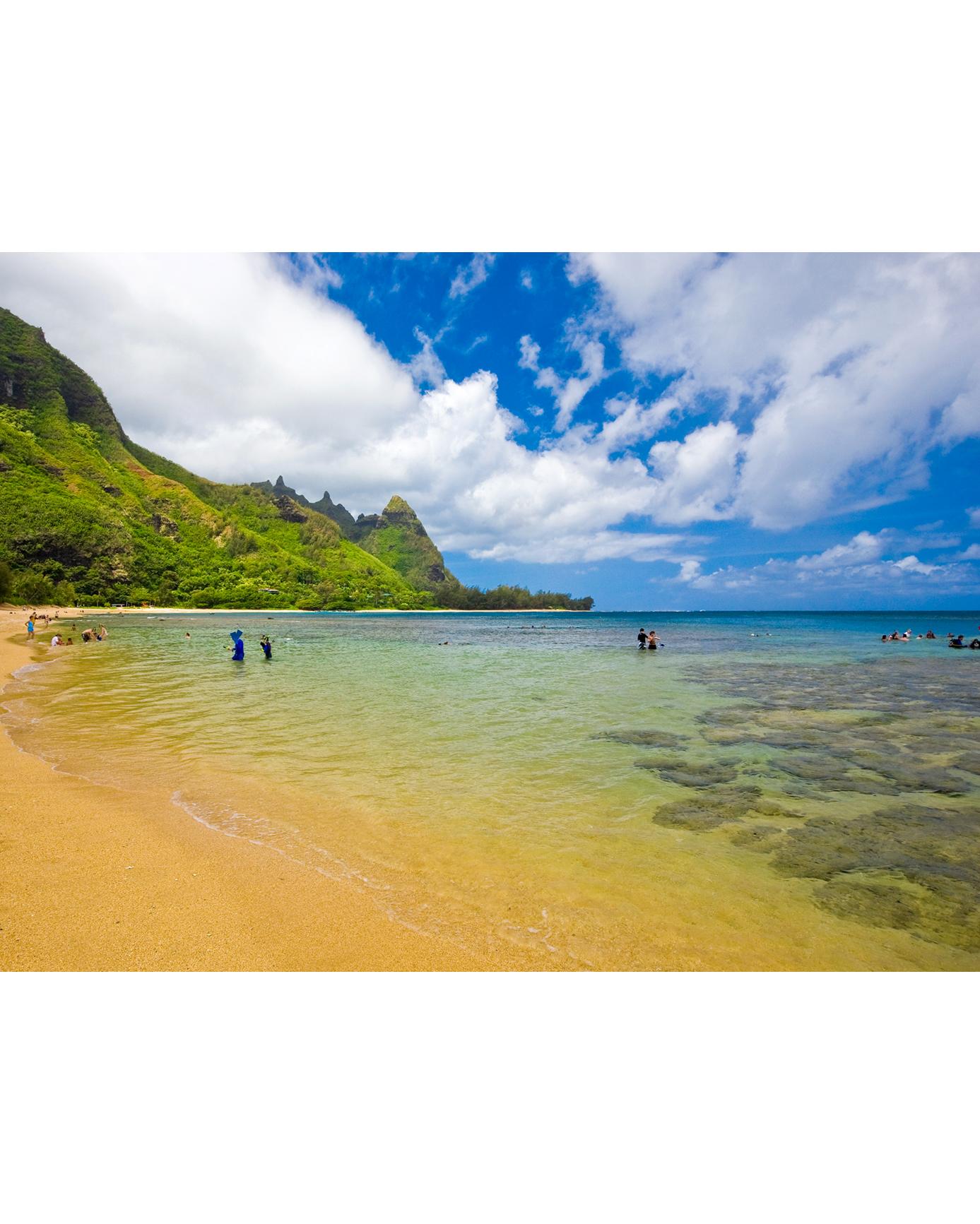 Tunnels (Makua) Beach in Kauai, Hawaii