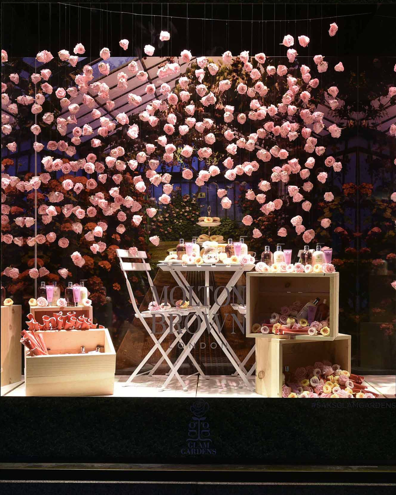 Saks Fifth Avenue's Glam Gardens