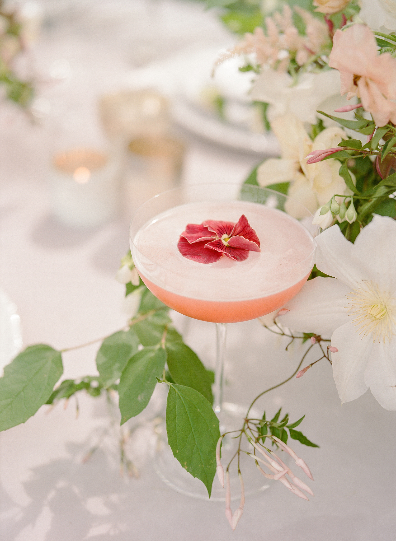 Flower-Topped Cocktail